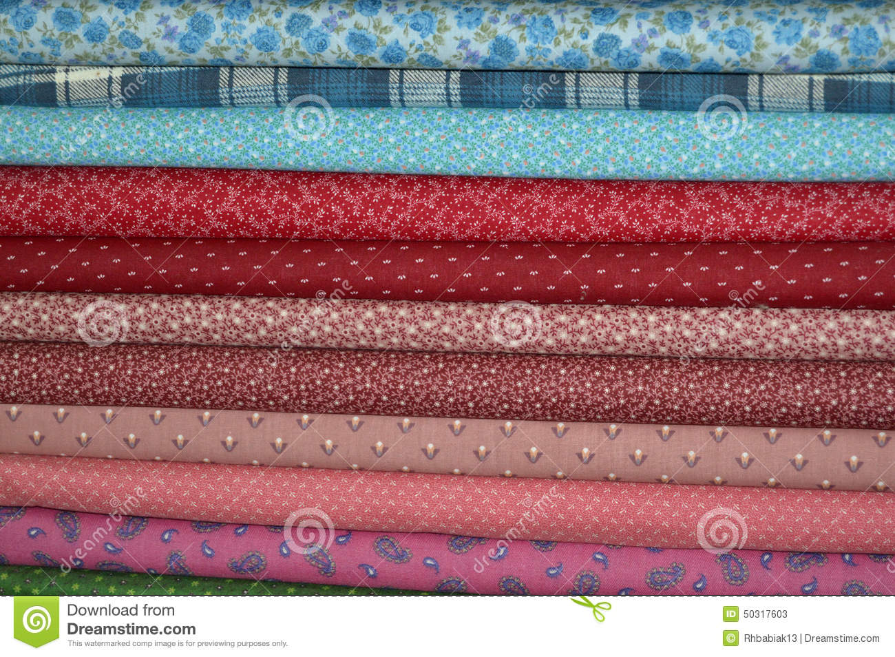 Quilting Fabric Stock Photo - Image: 50317603