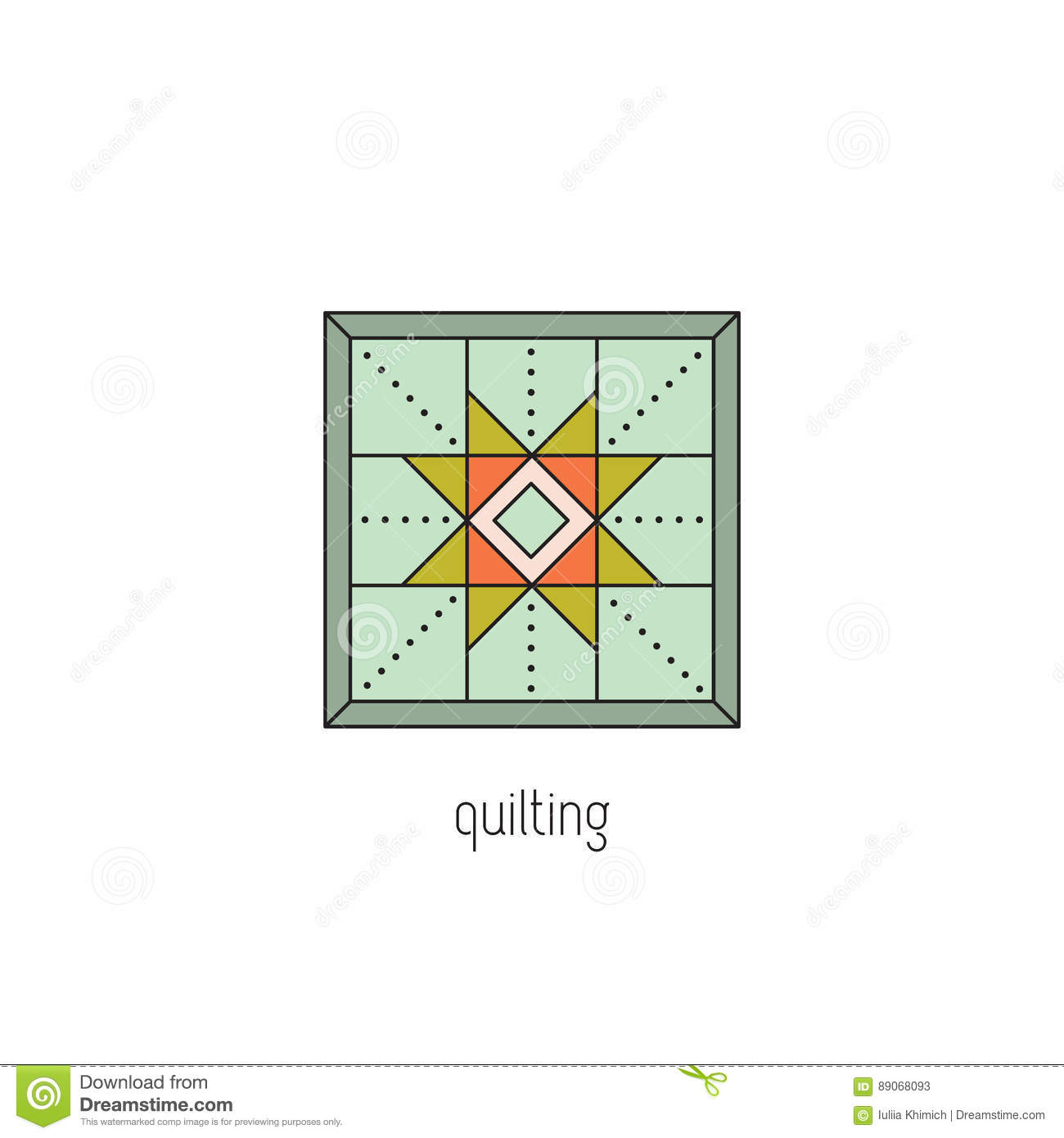 Quilting line icon stock vector illustration of geometric 89068093 quilting line icon reheart Choice Image