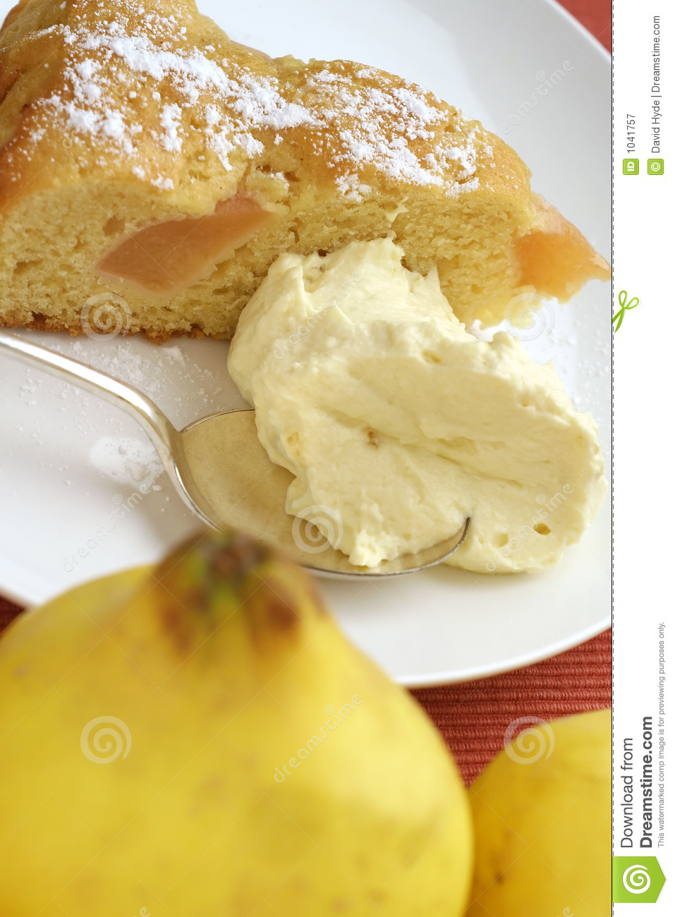 Baked Quince Cake