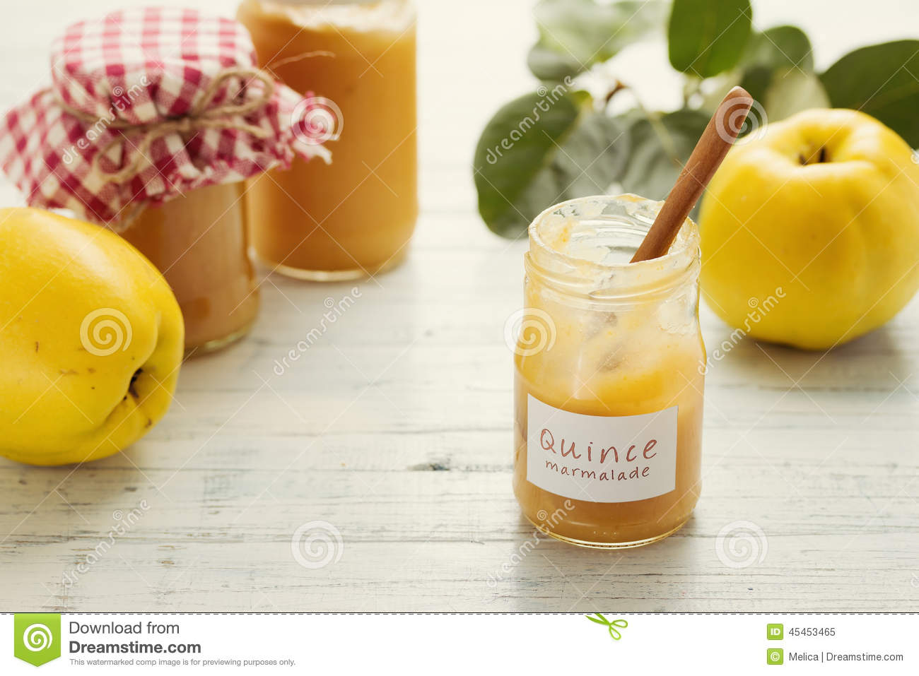 Quince marmalade stock photo image 45453465 - Delicious quince recipes autumns flavors on your table ...