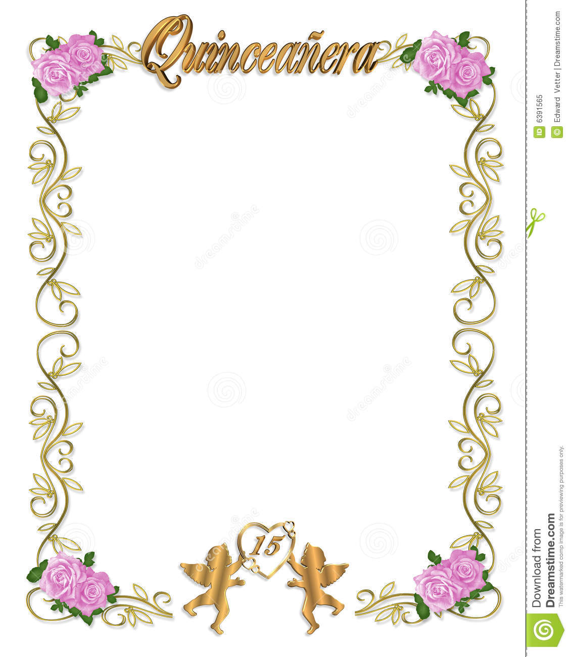 Quinceanera Invitation 15th Birthday Party Royalty Free Stock ...