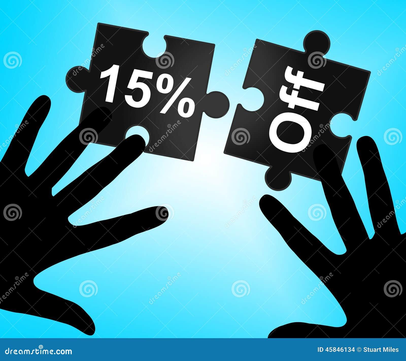 Quindici per cento fuori rappresentano il promo e l offerta di vendite