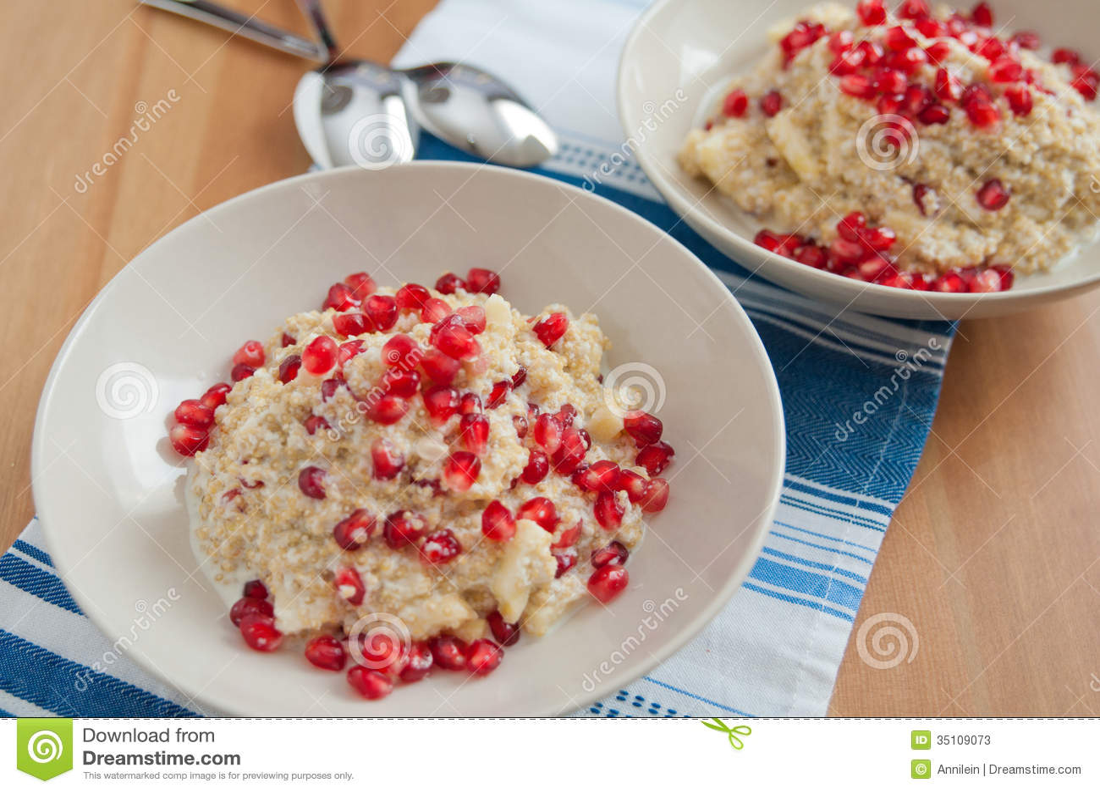 Quinoa Coconut Milk Rice Pudding Stock Photos - Image: 35109073