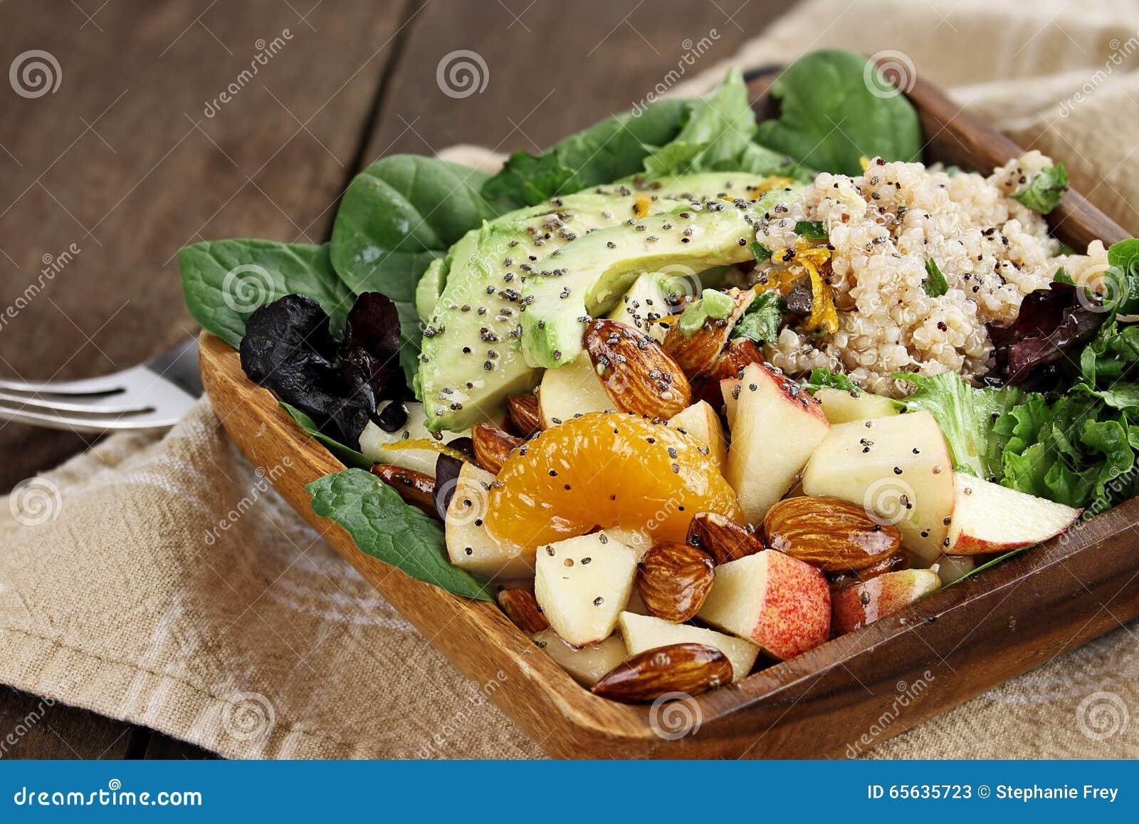 Quinoa et salade de fruits
