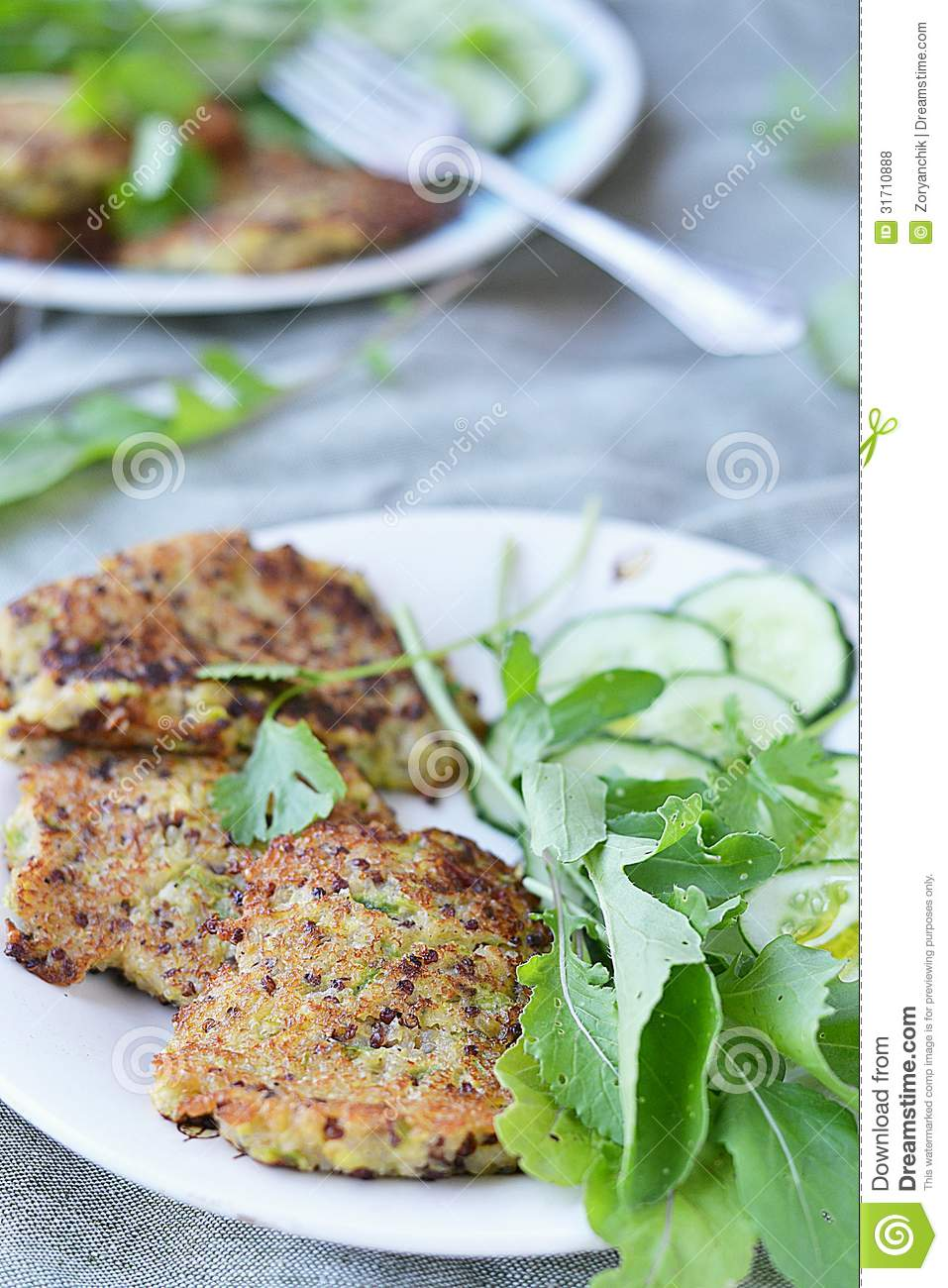 Quinoa Pancakes Royalty Free Stock Photos - Image: 31710888