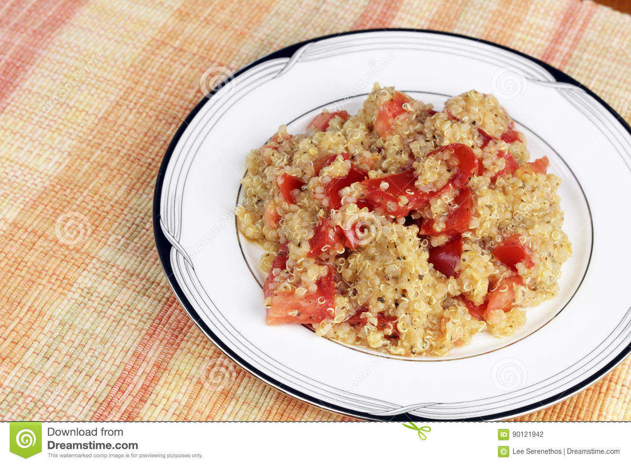 Quinoa with Tomatoes and Herbs Meal