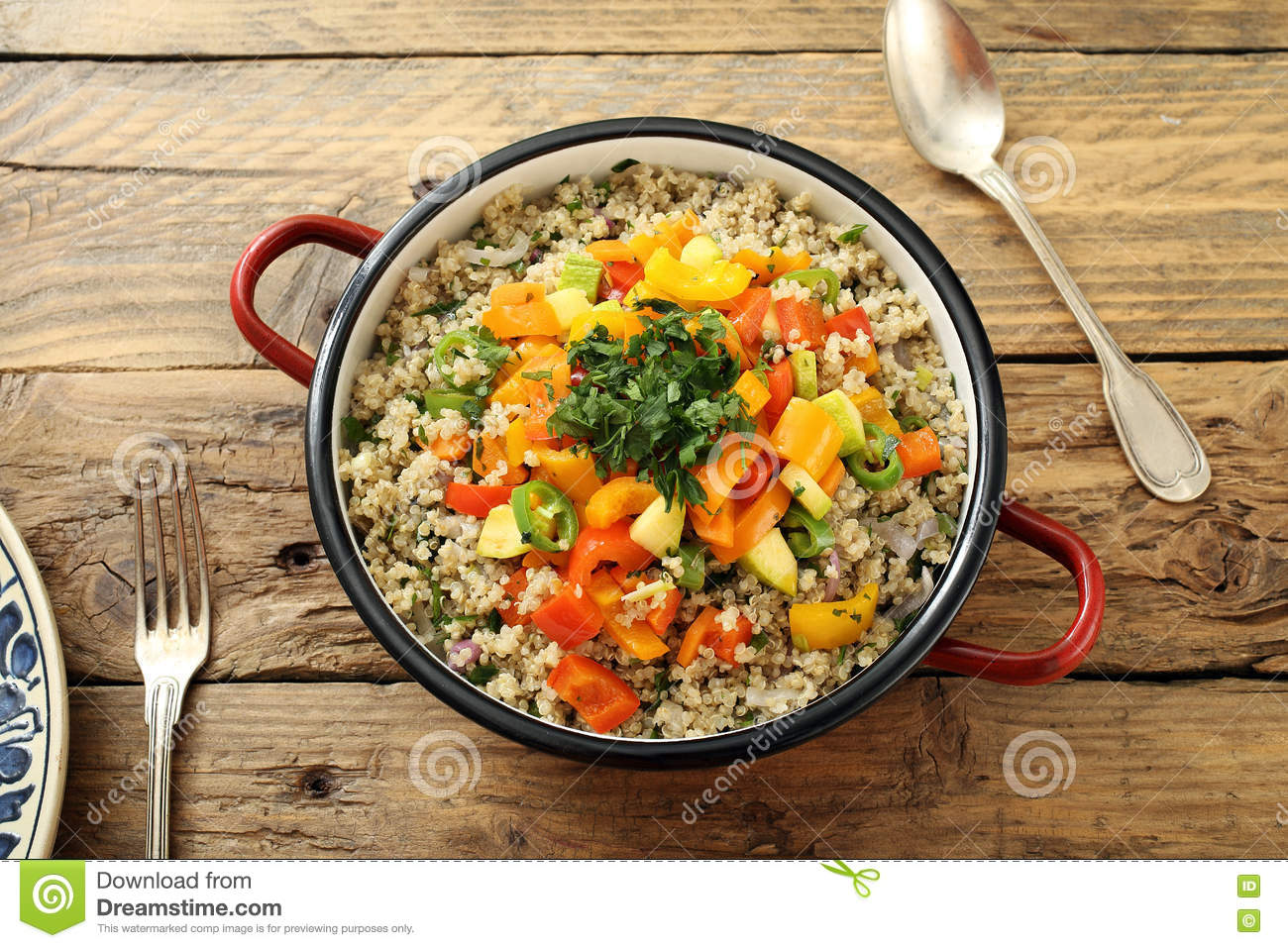 Download Quinoa vegetarian salad stock photo. Image of modern - 71132726