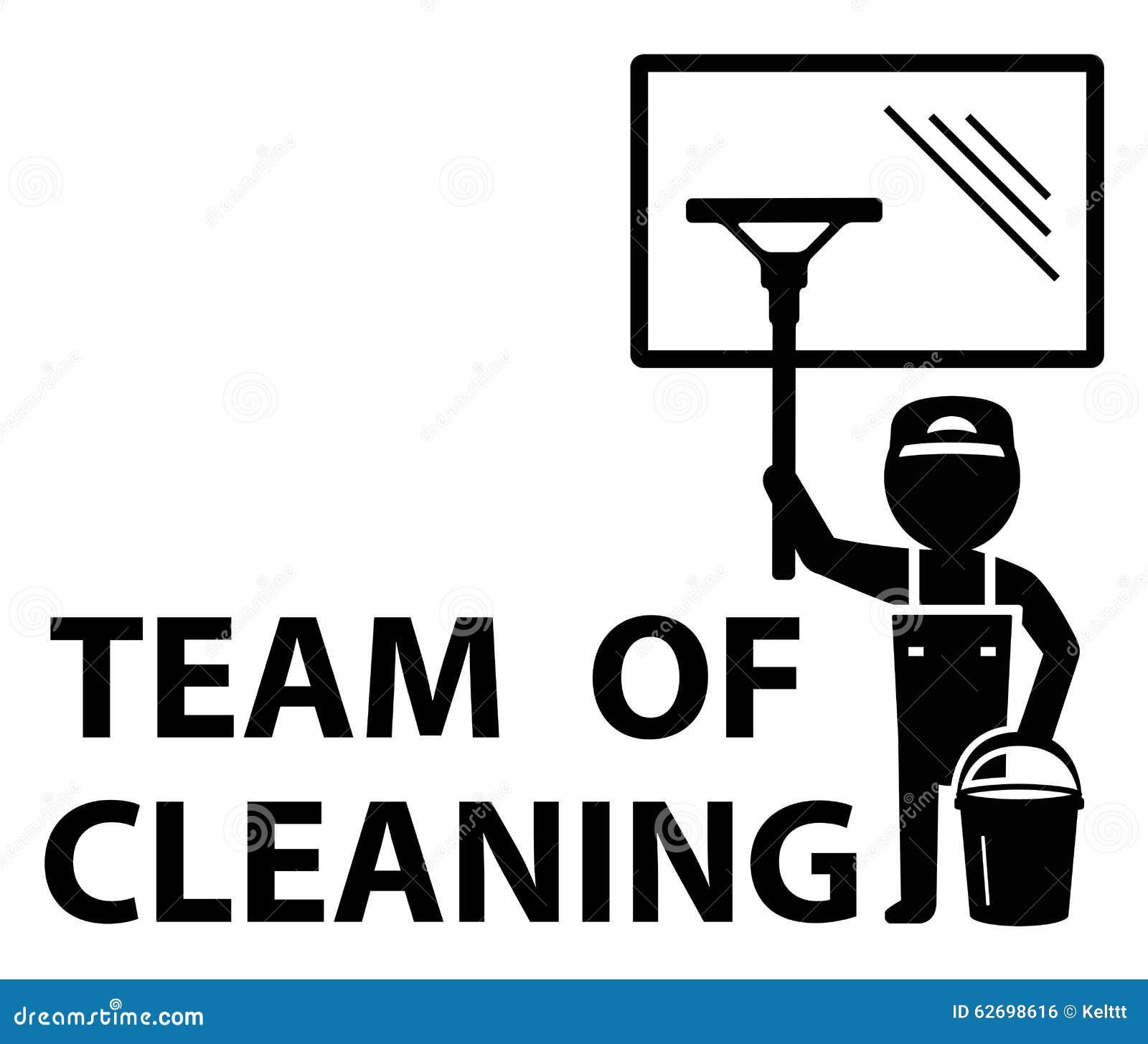 Quipe de symbole de nettoyage illustration stock image for Nettoyage de fenetre