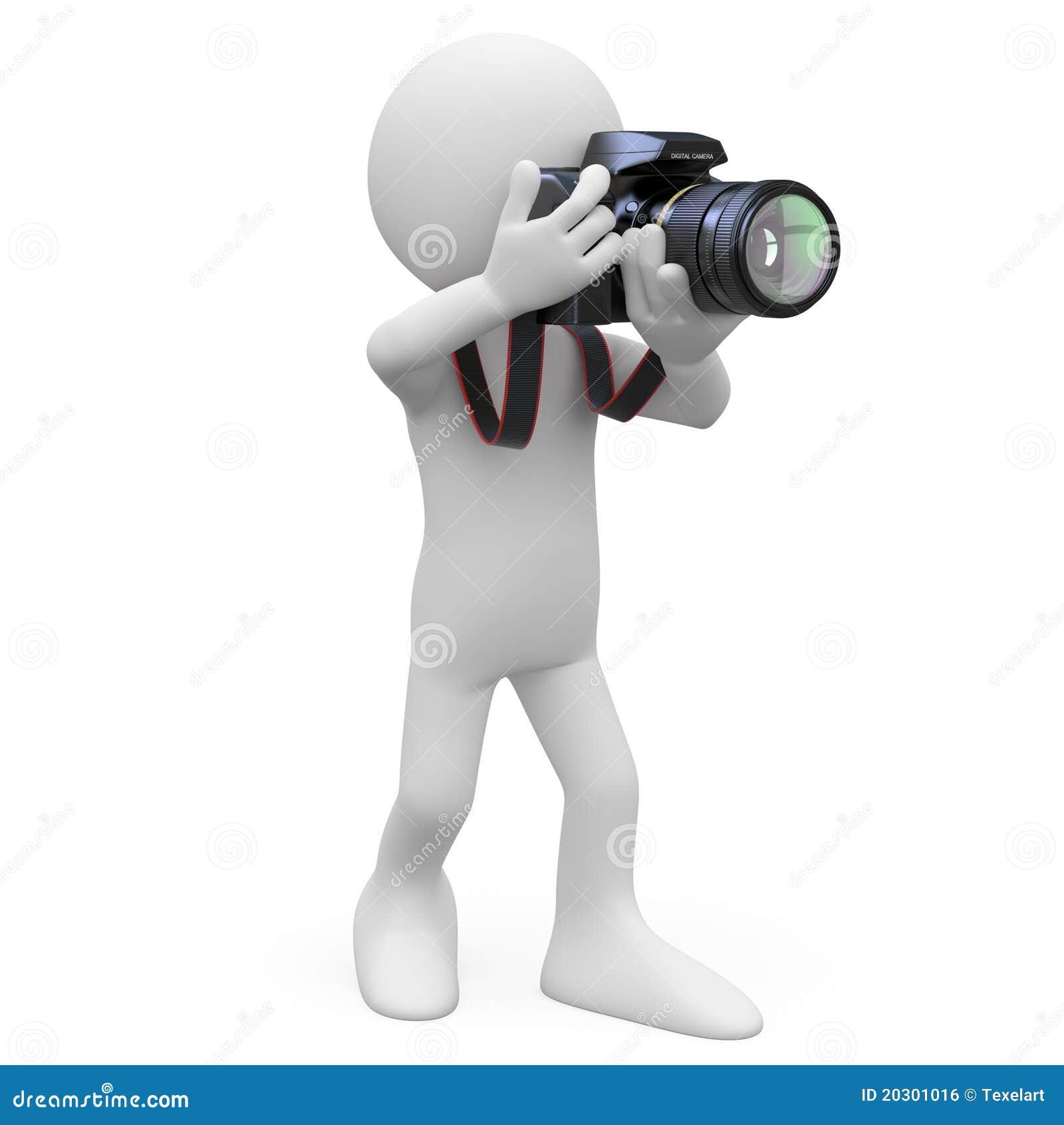 Quipez Prendre Une Photo Avec Son Appareil Photo De Slr Image Libre De Droits Image 20301016