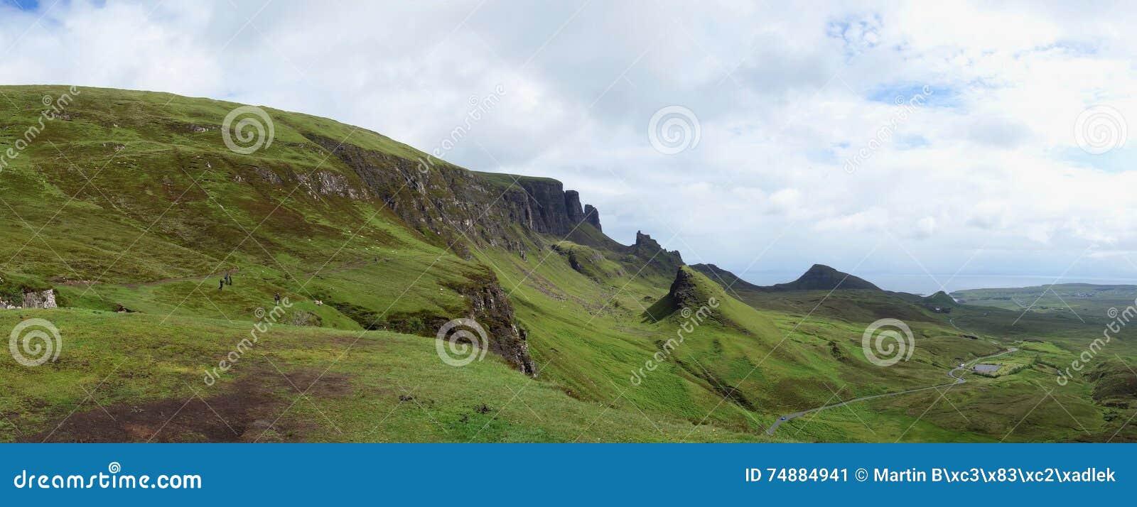 Quiraing na ilha de Skye em Escócia