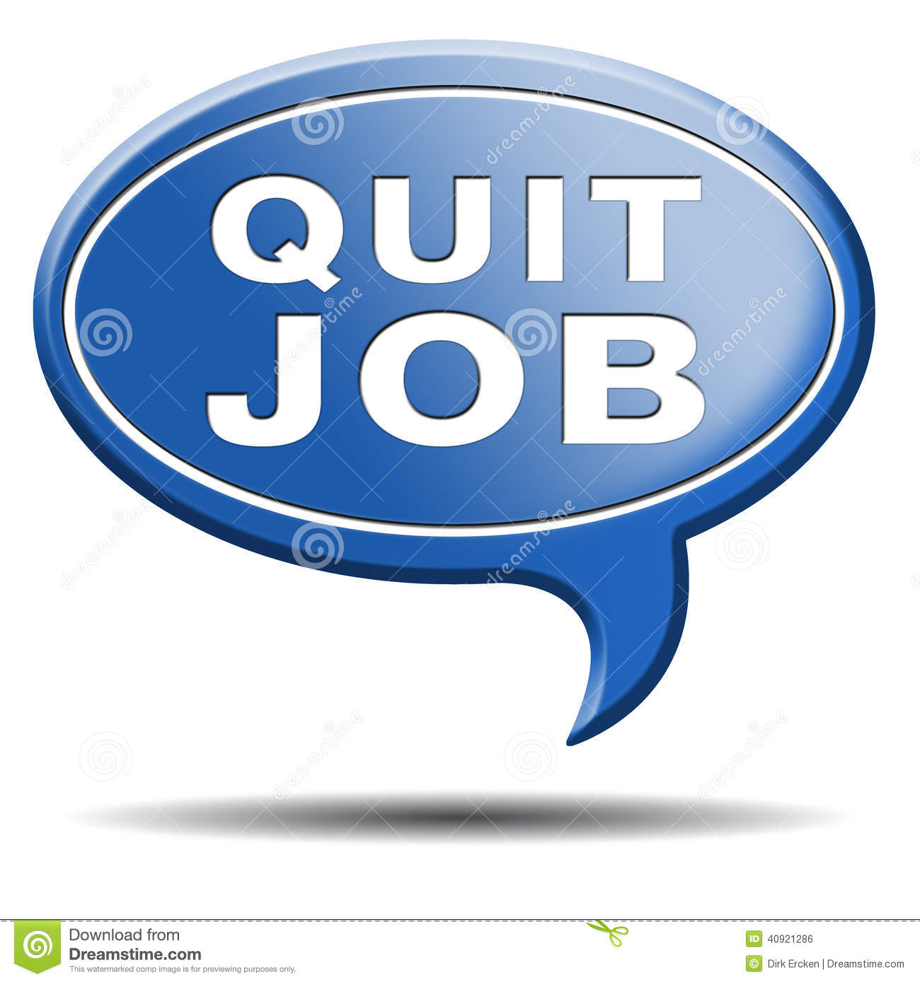 Quit job quitting work for career move