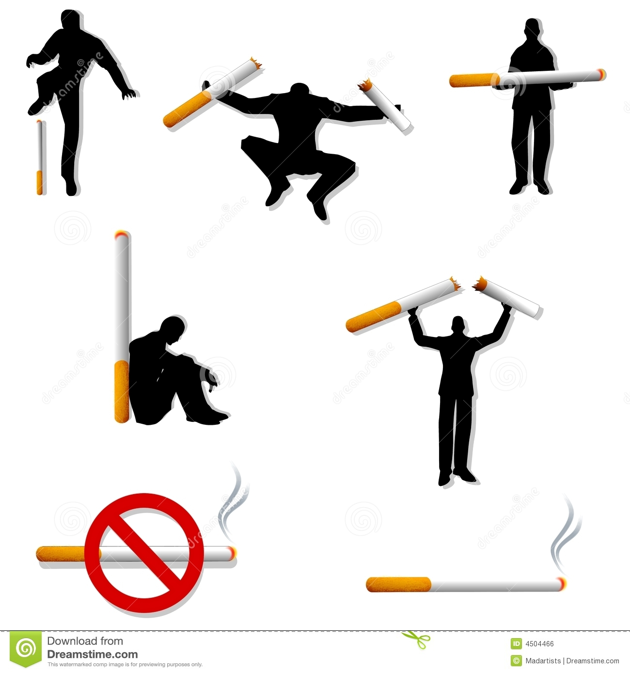 Quit Smoking People Cigarettes Royalty Free Stock Image - Image ...
