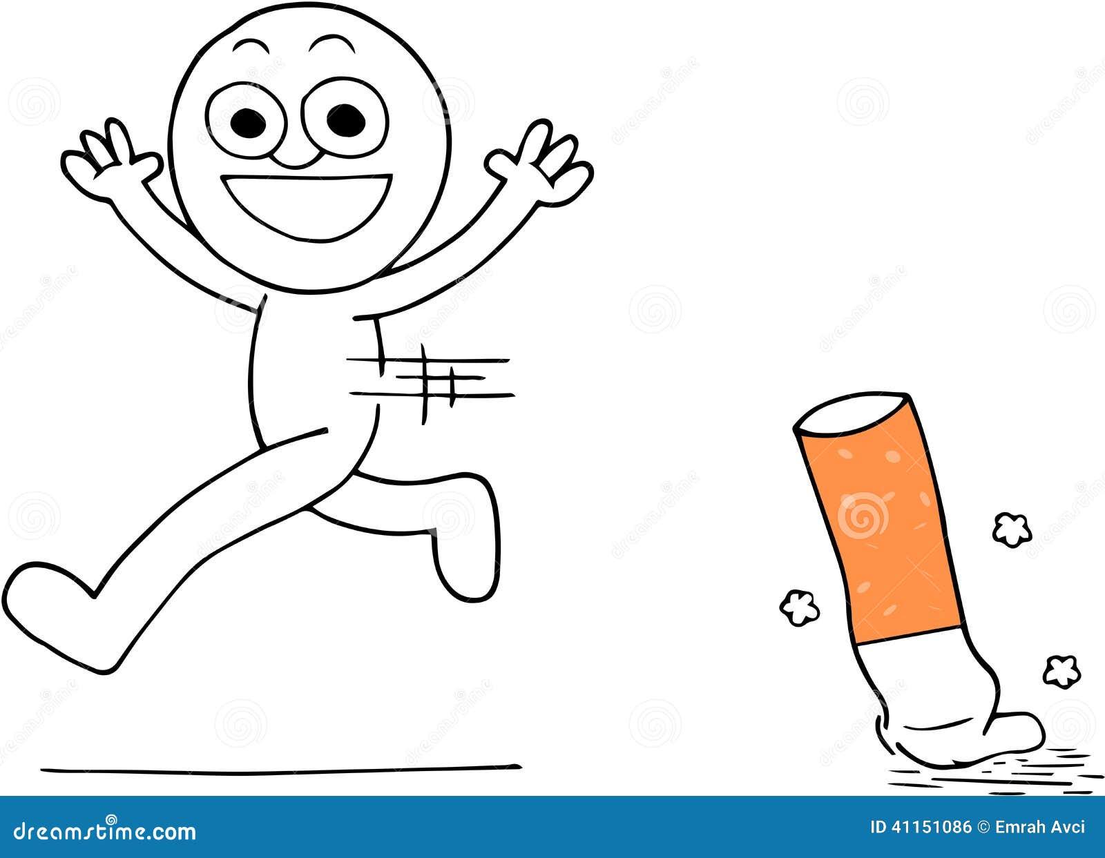Quitting Smoking Stock Illustration Illustration Of Enemy 41151086