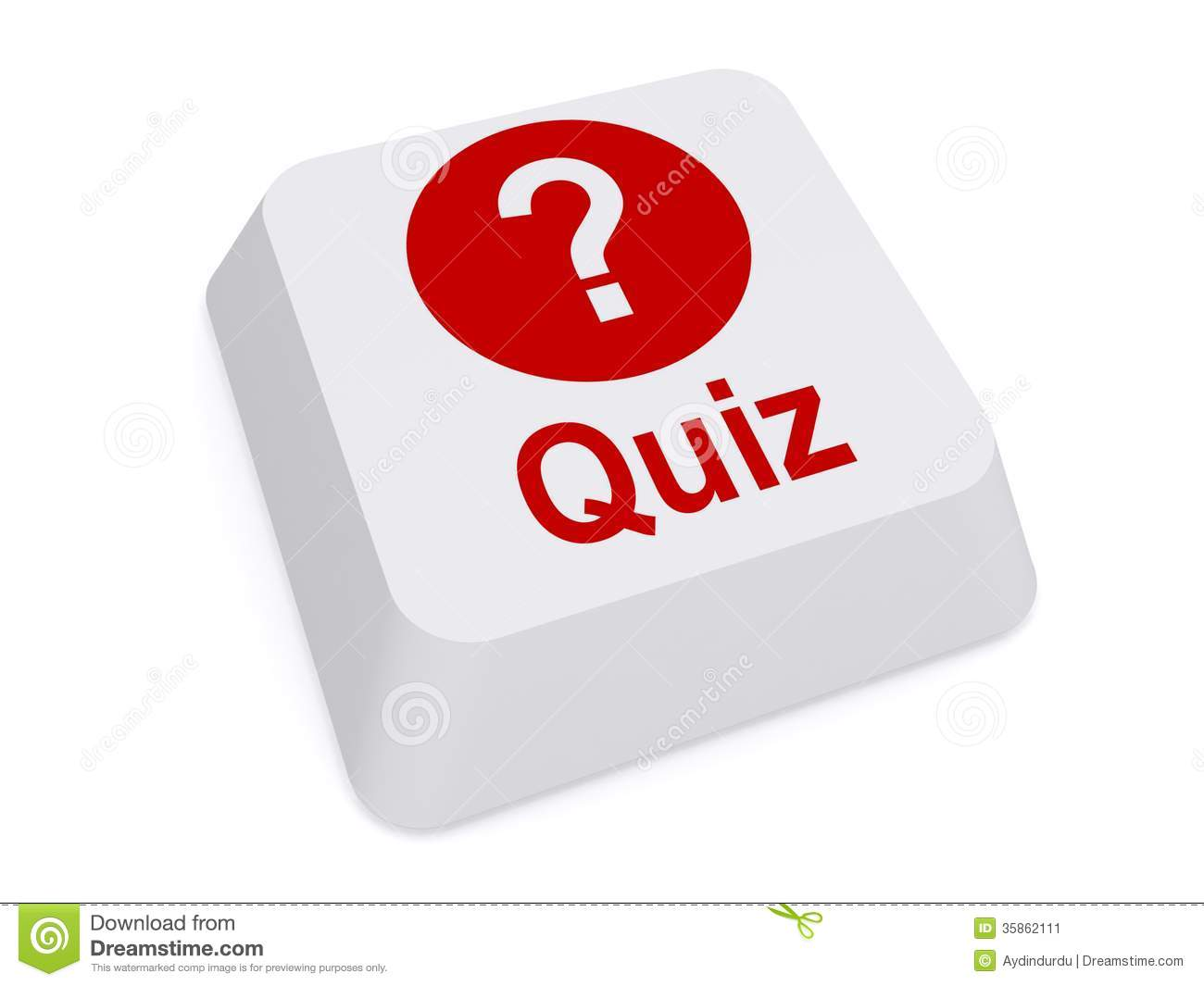 Quiz Button With Question Mark Stock Image - Image: 35862111