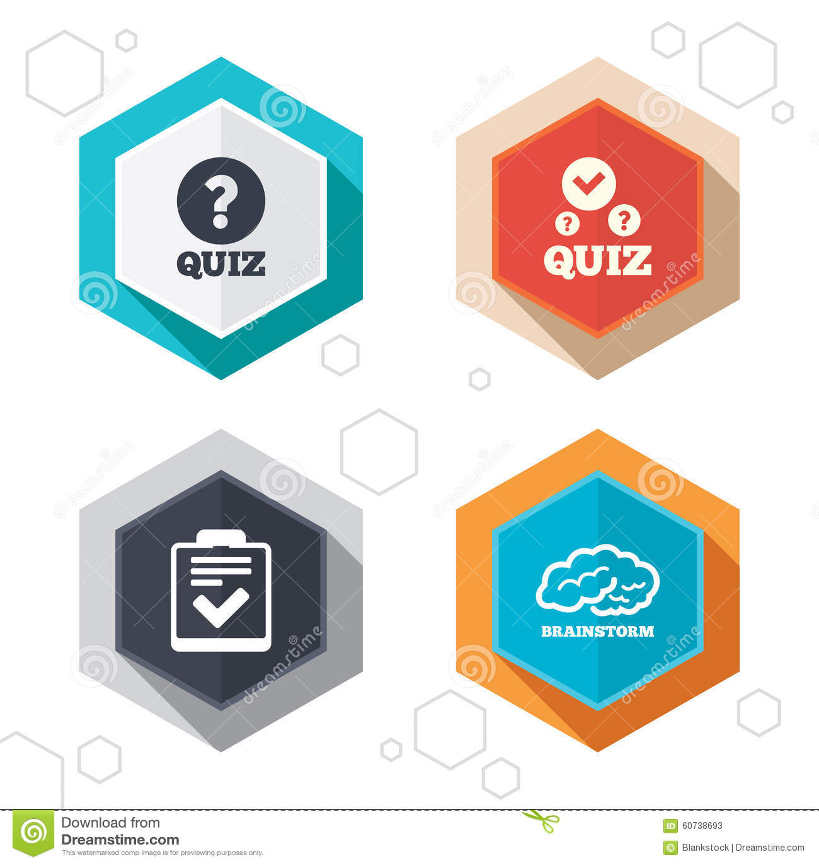 Quiz icons checklist and human brain symbols stock vector checklist and human brain symbols biocorpaavc Images