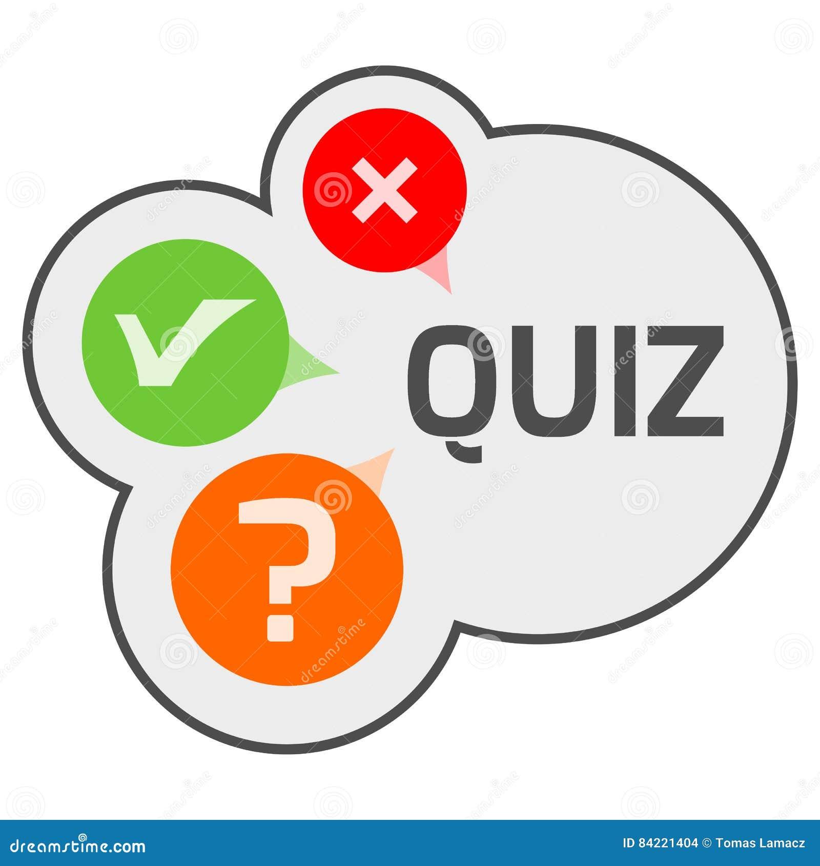 Quiz Logo Emblems Labels Design Element. Mind Games Logo
