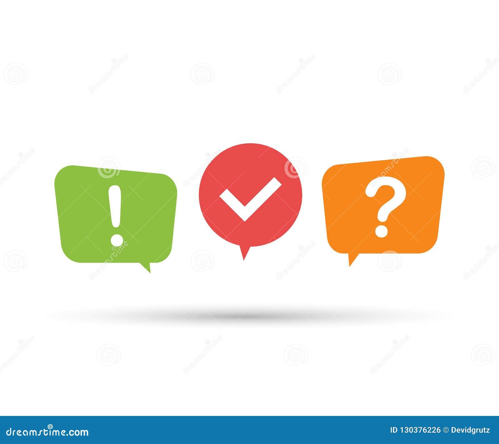 Quiz logo with speech bubble symbols, concept of questionnaire show sing, quiz button. Vector illustration.