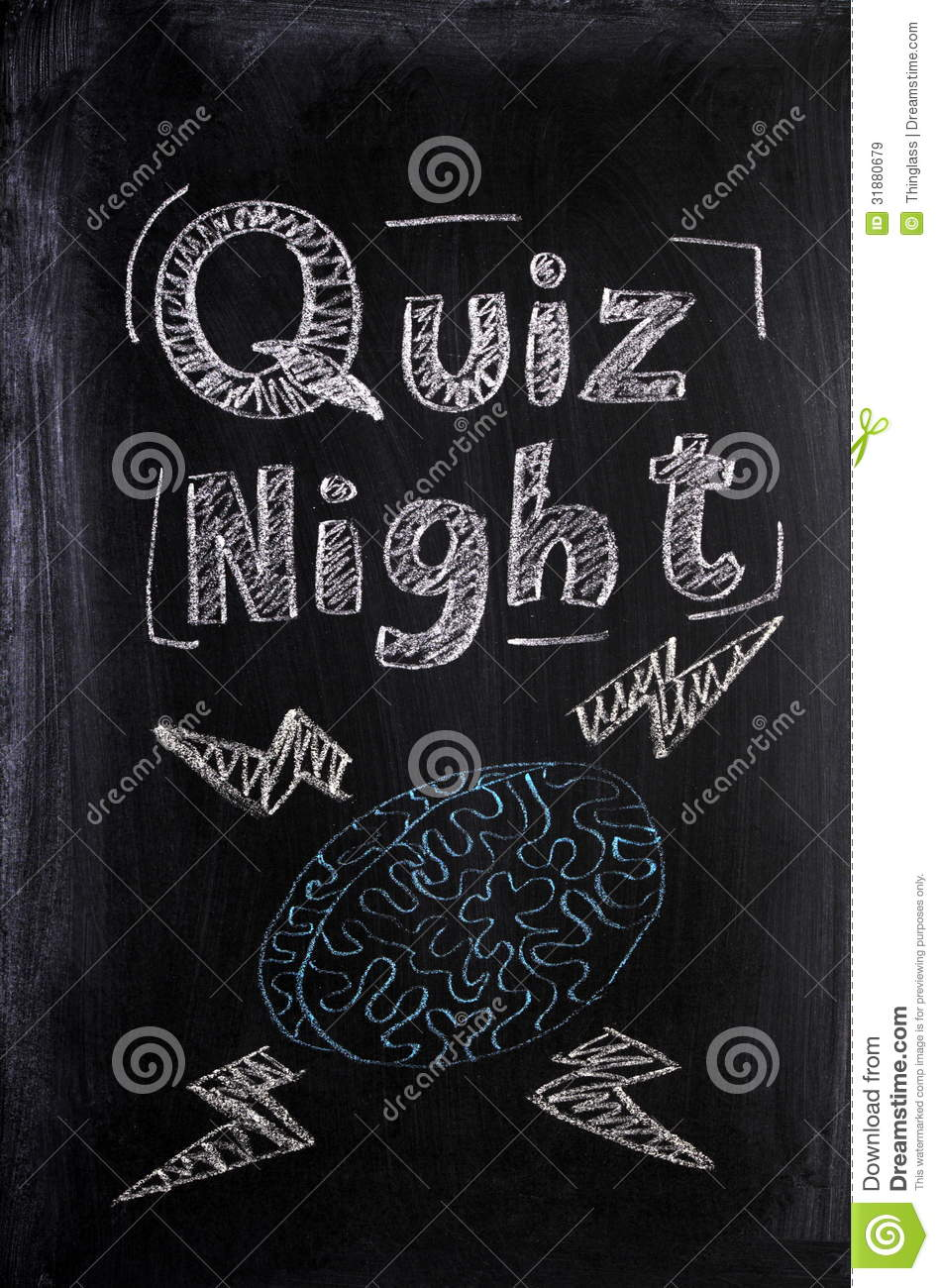 Quiz Night stock image. Image of social, chalkboard, night - 31880679