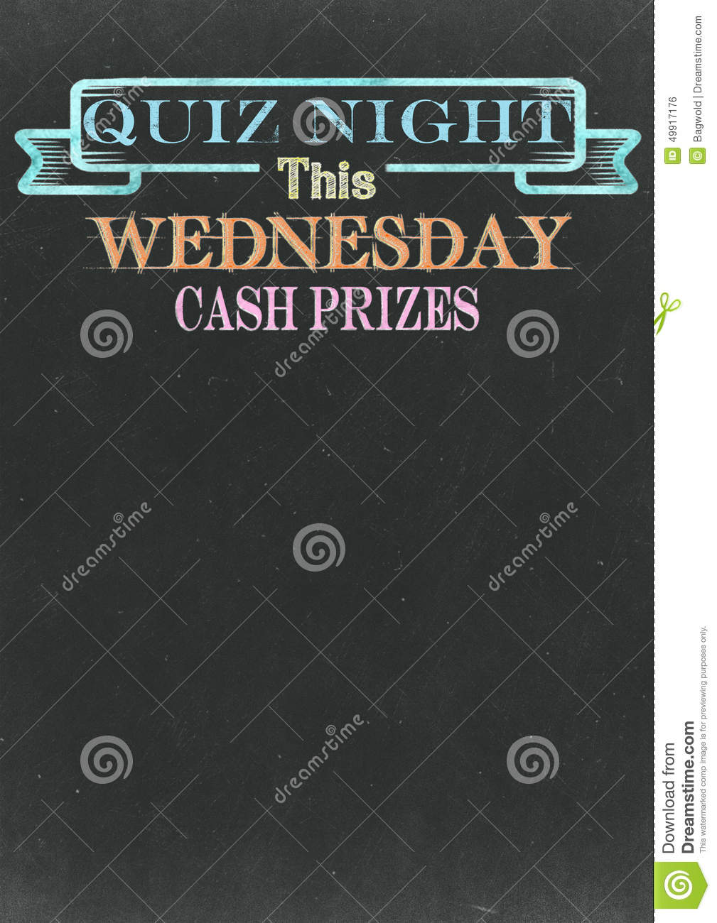 Quiz Night Chalkboard stock illustration. Illustration of night ...