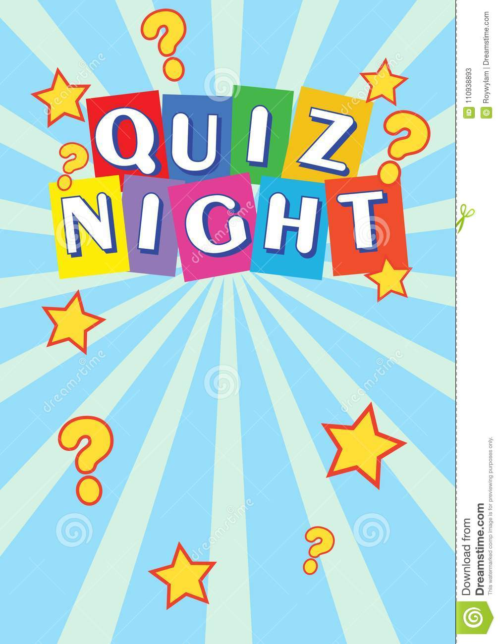 Quiz Night Poster Leaflet, Flyer, Promotion For A Quiz