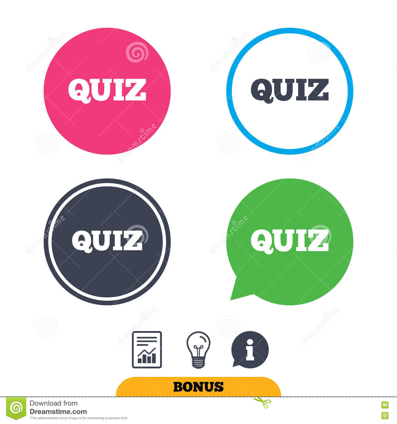Quiz Sign Icon  Questions And Answers Game  Stock Vector