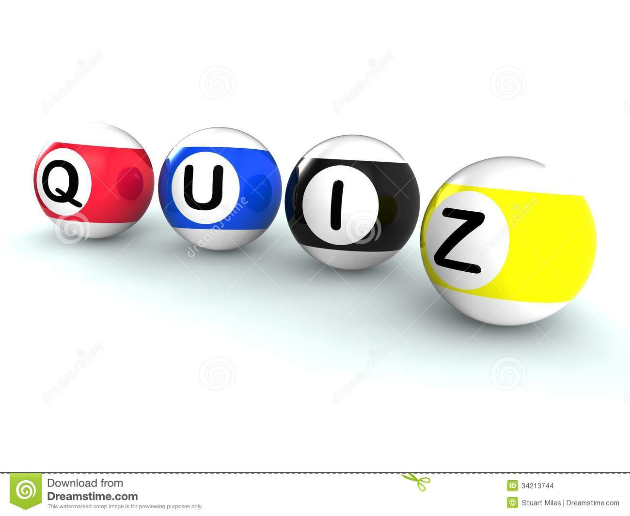 Quiz Word Shows Test Or Quizzing Stock Illustration - Illustration