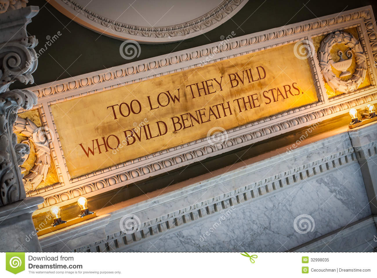 Library Quotes Quotation Above Window In Library Of Congress Stock Image  Image