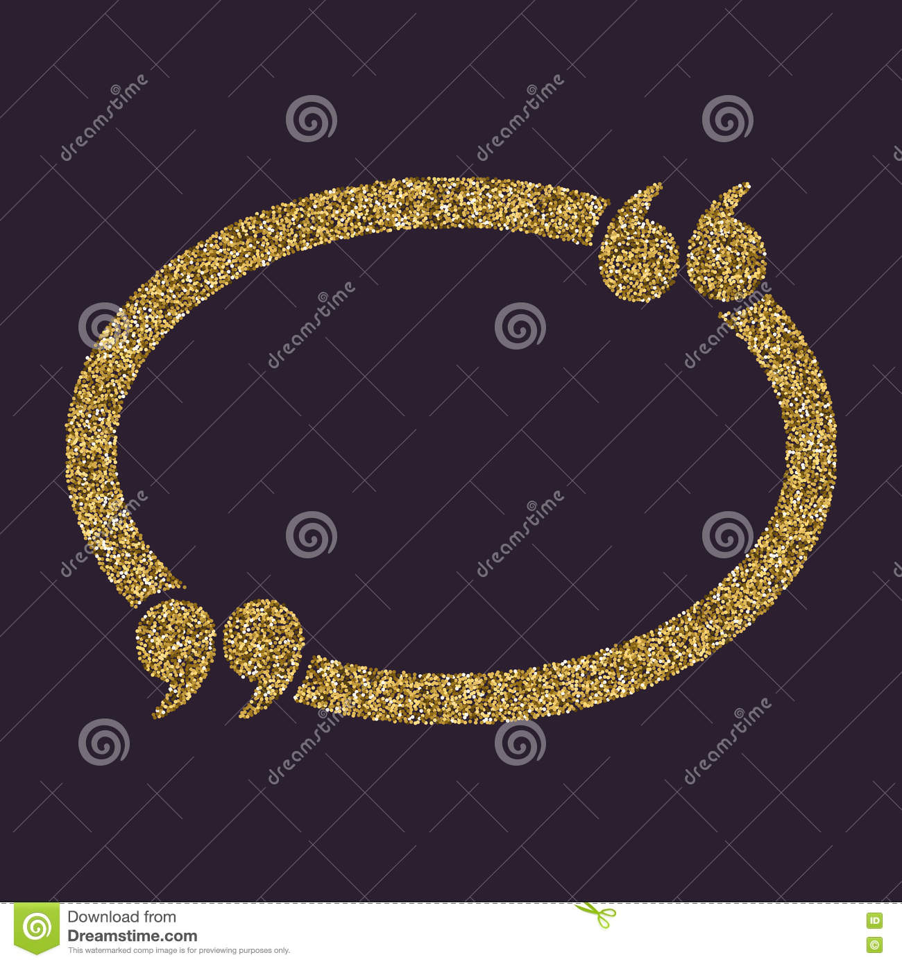The Quotation Mark Speech Bubble Icon Quotes Citation Opinion