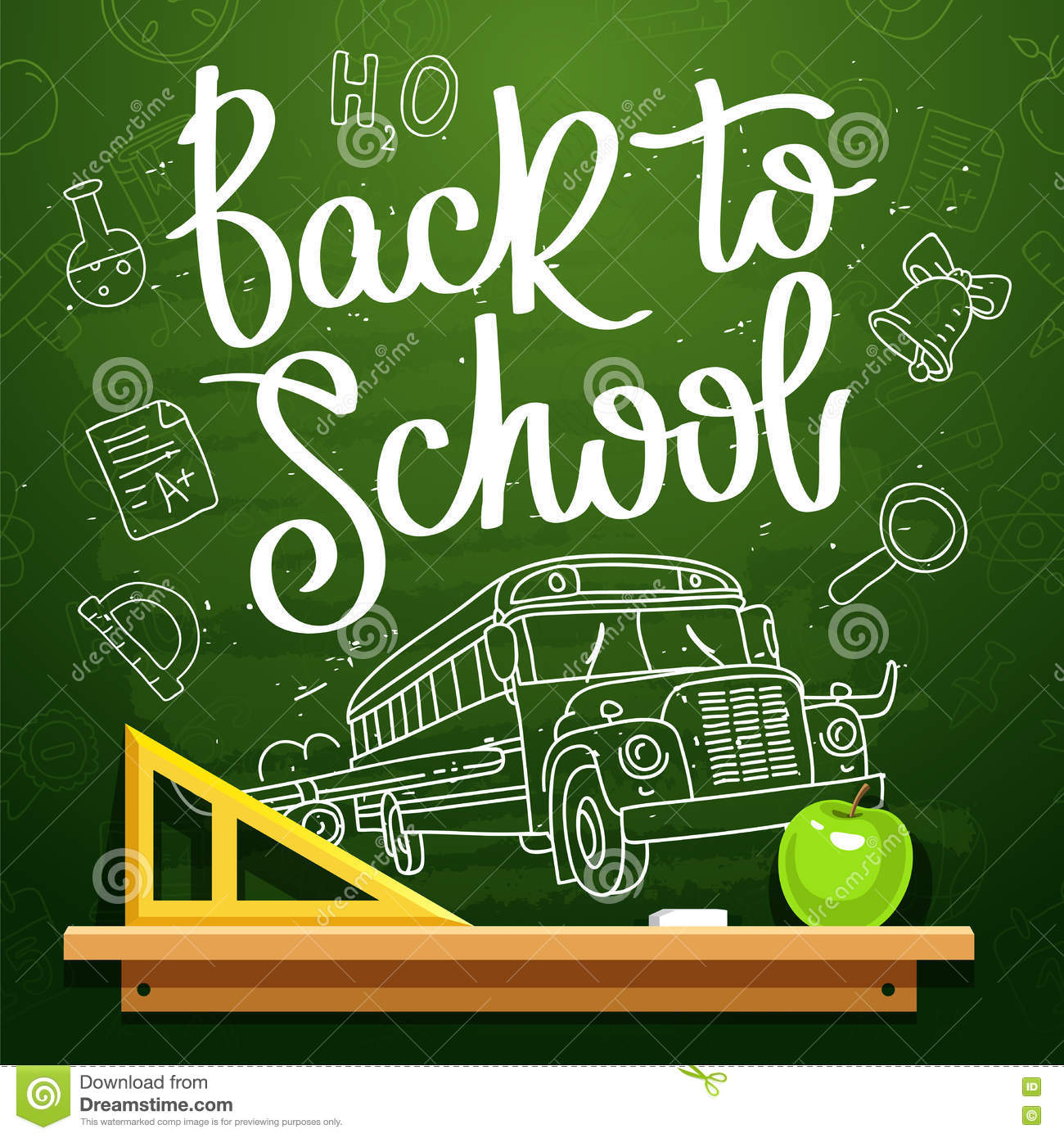 Quote Back To School Stock Vector. Illustration Of