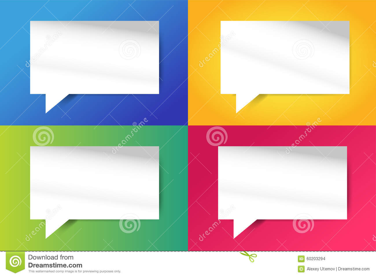 quote blank template bubble empty design stock vector illustration