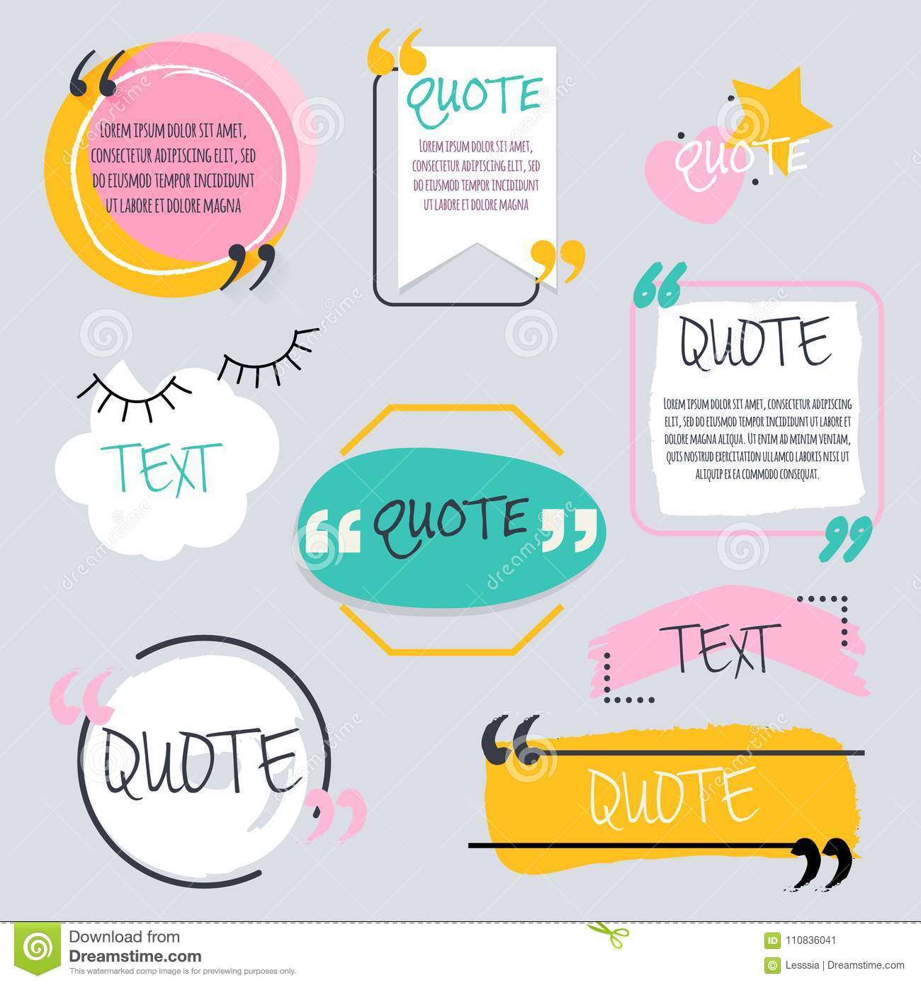 quote blank template design elements circle business