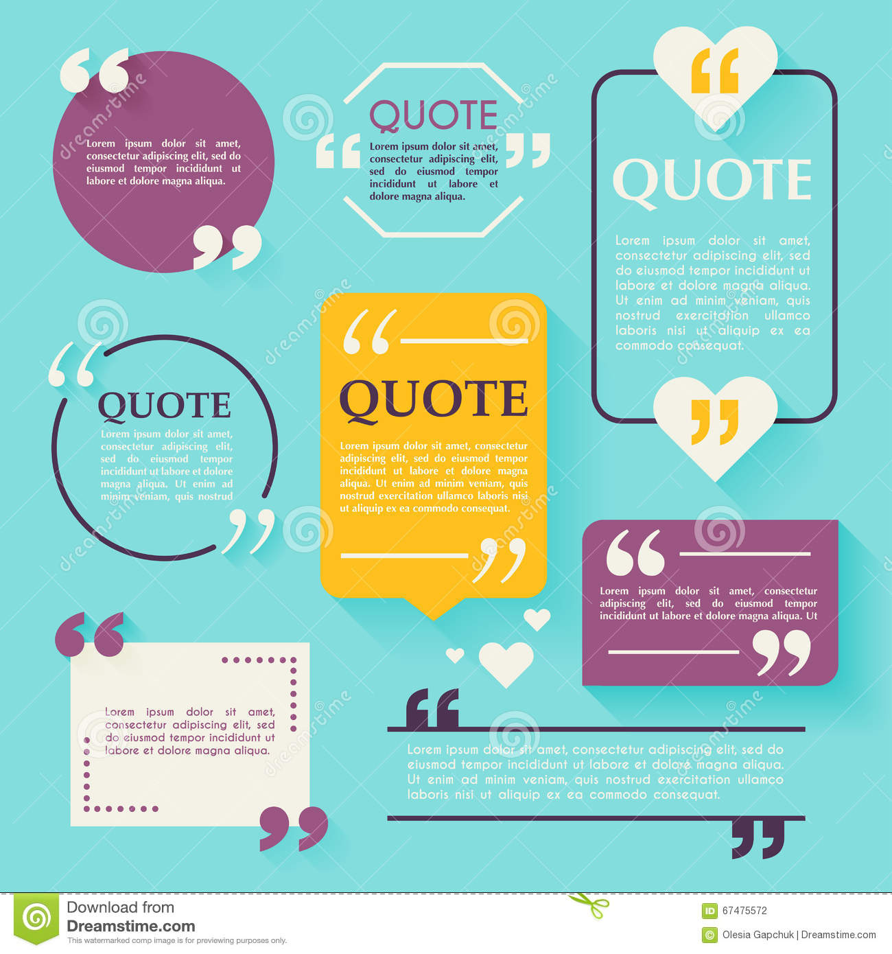 Quote blank template design elements circle business card temp quote blank template design elements circle business card template paper sheet information text quote template for your design wajeb Images