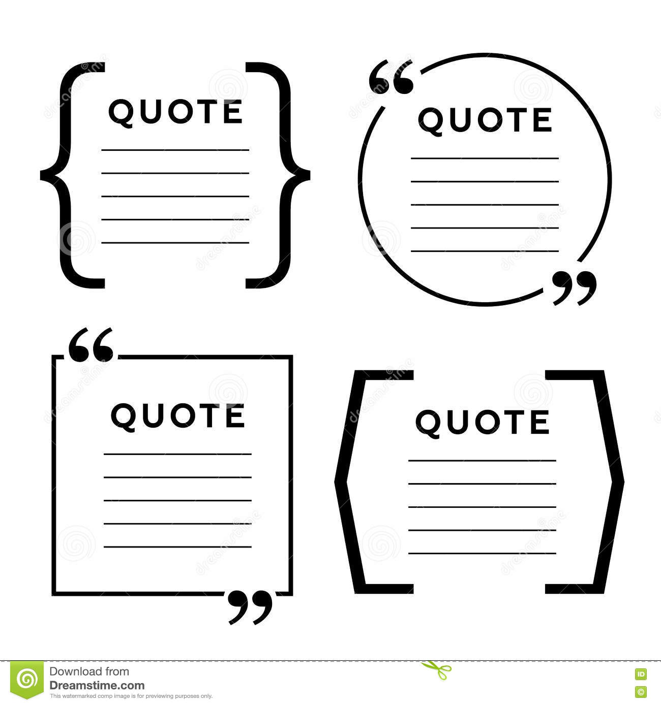 Quote Blank Template Quote Bubble Empty Template Circle Business - Business card template paper