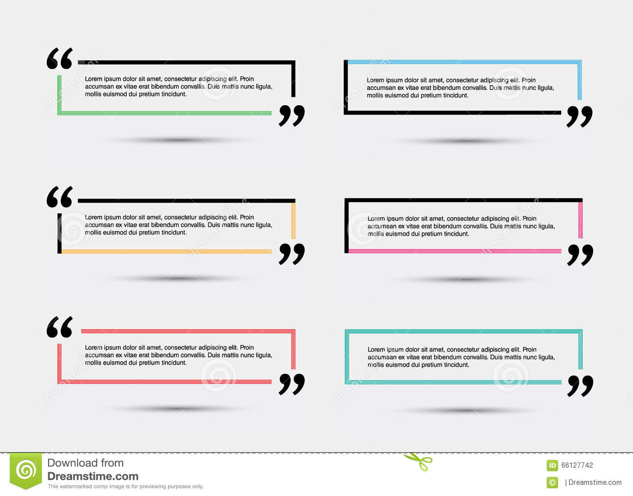 quote blank template stock vector illustration of paragraph 66127742