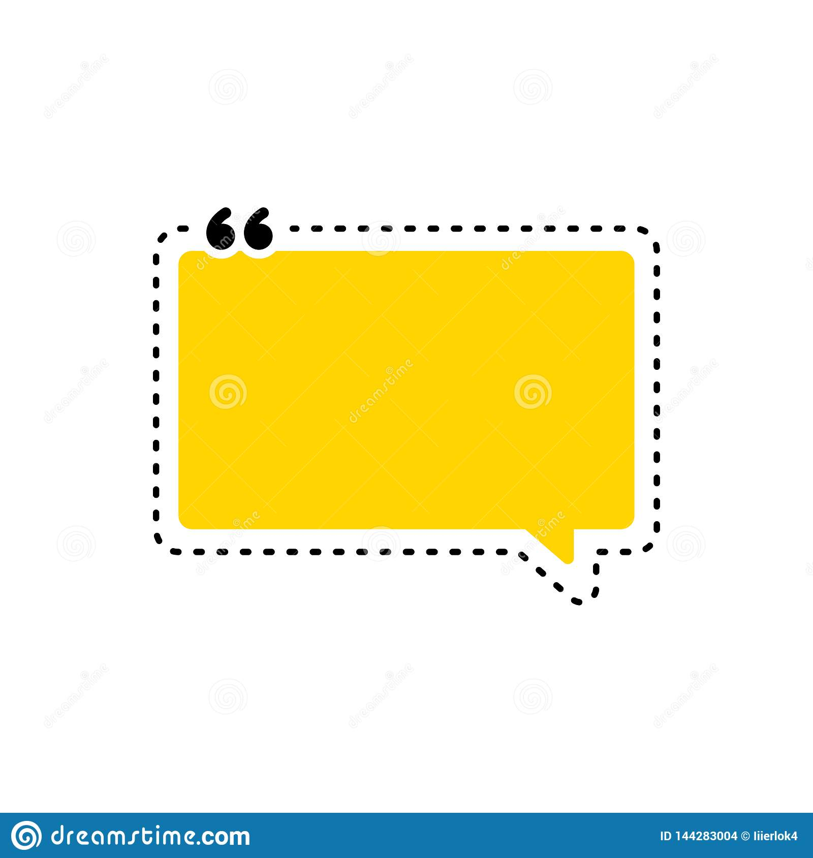 Quote Box Frame, Big Set. Texting Quote Boxes. Colored ...