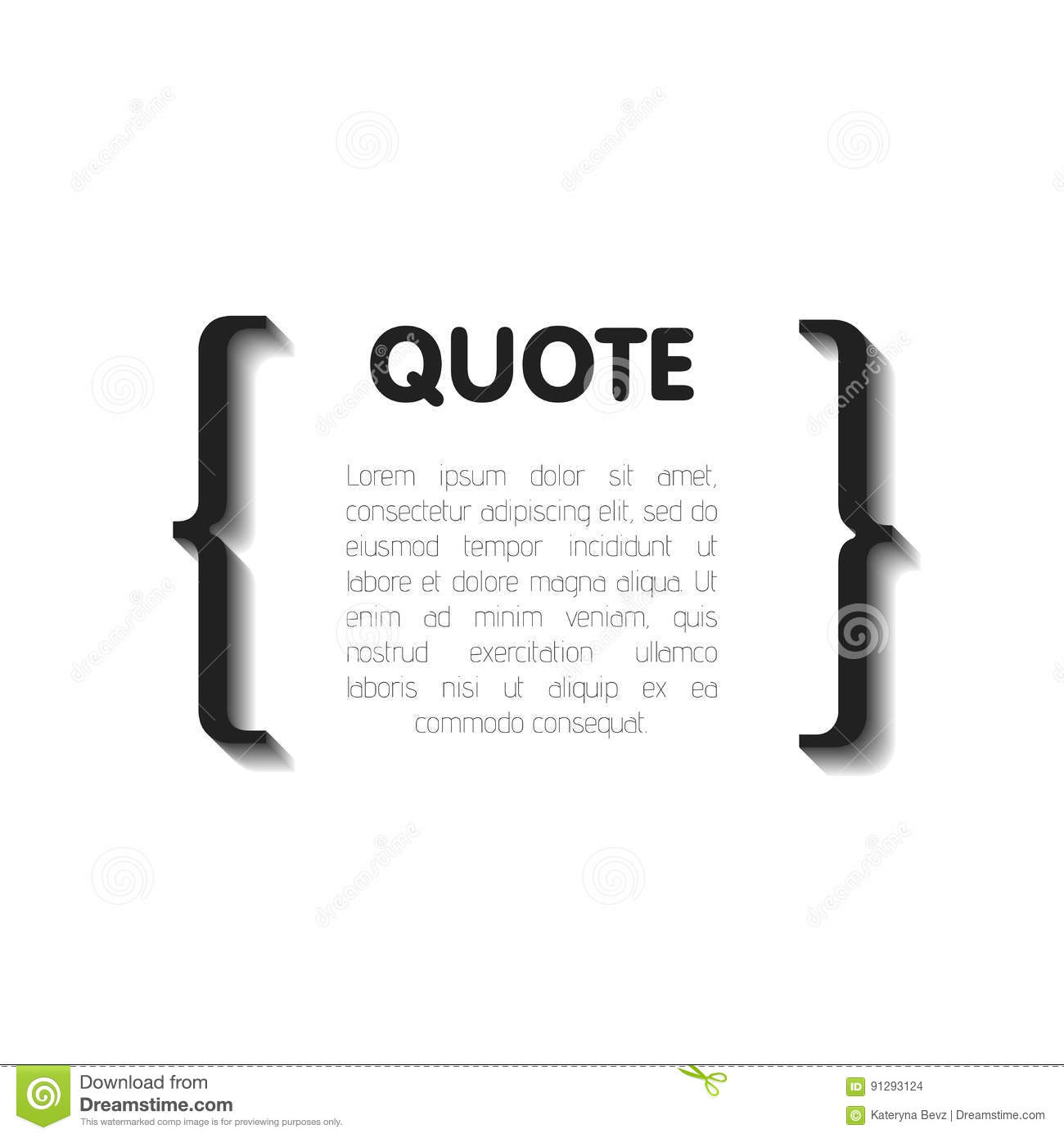 Quote bubble blank templates empty business card paper sheet download comp reheart Image collections