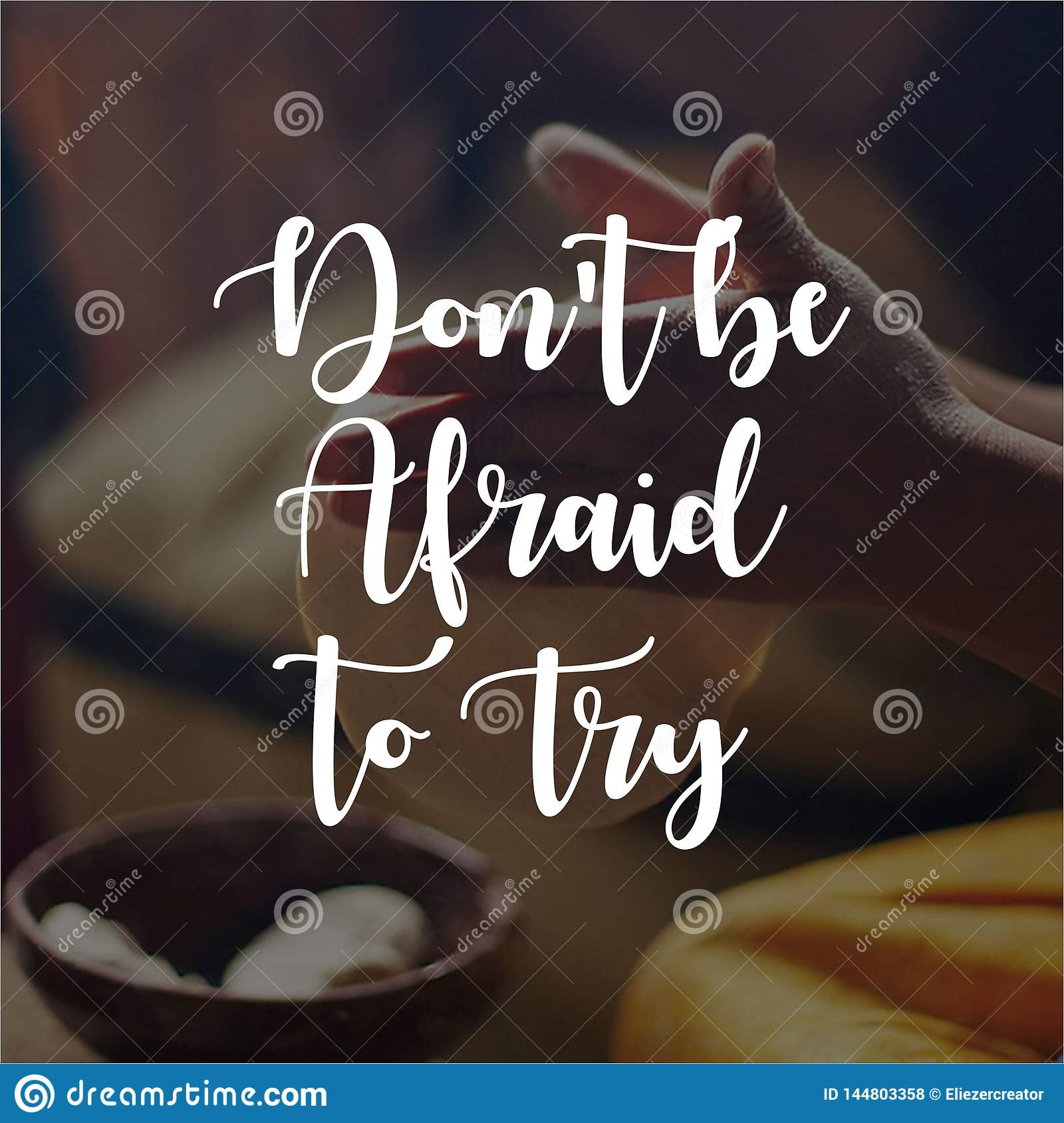 Quote. Don`t be afraid to try. Inspirational and motivational quotes and sayings about life,