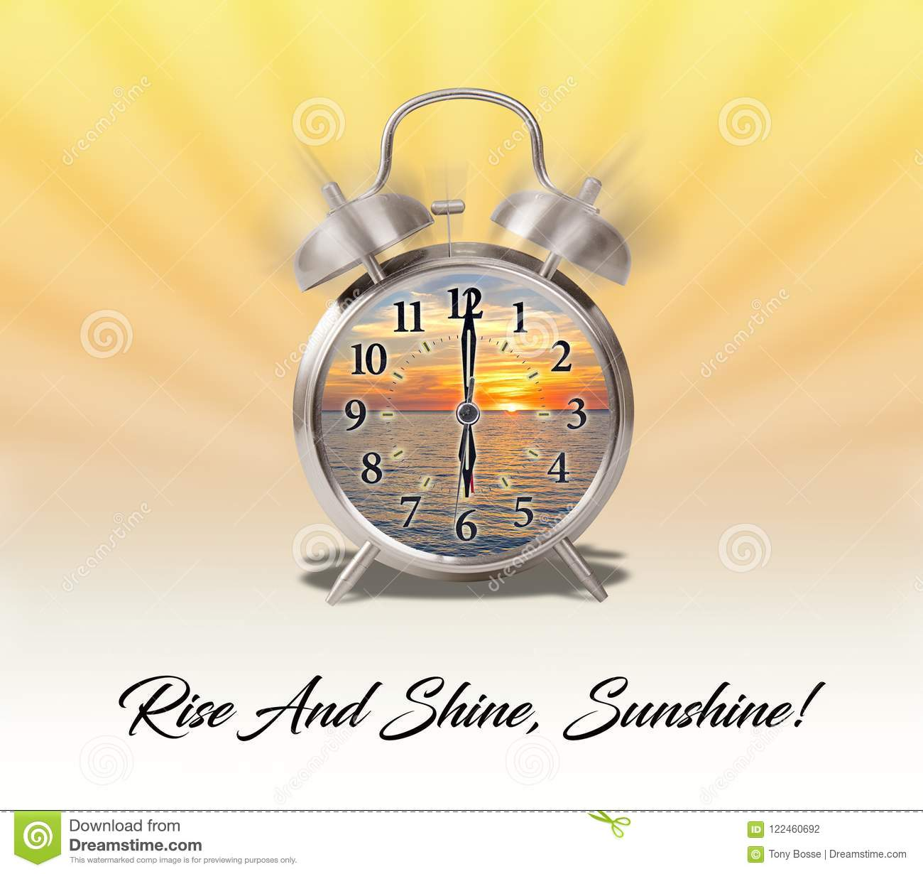 Quote Or Expression Rise And Shine Sunshine Stock Illustration