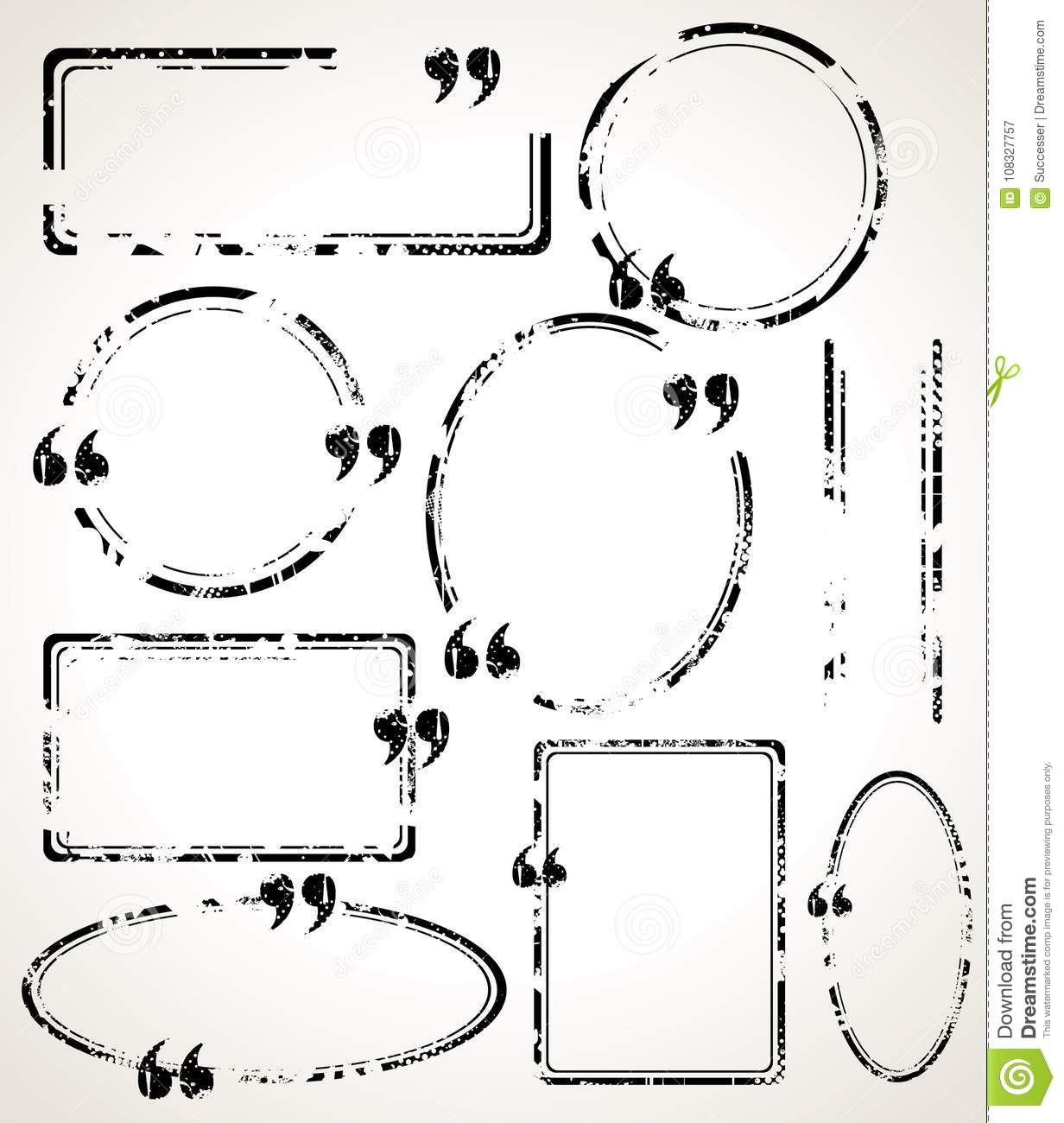Quote Frames.Doodle Style Sketched Frames, Strokes Stock Vector ...