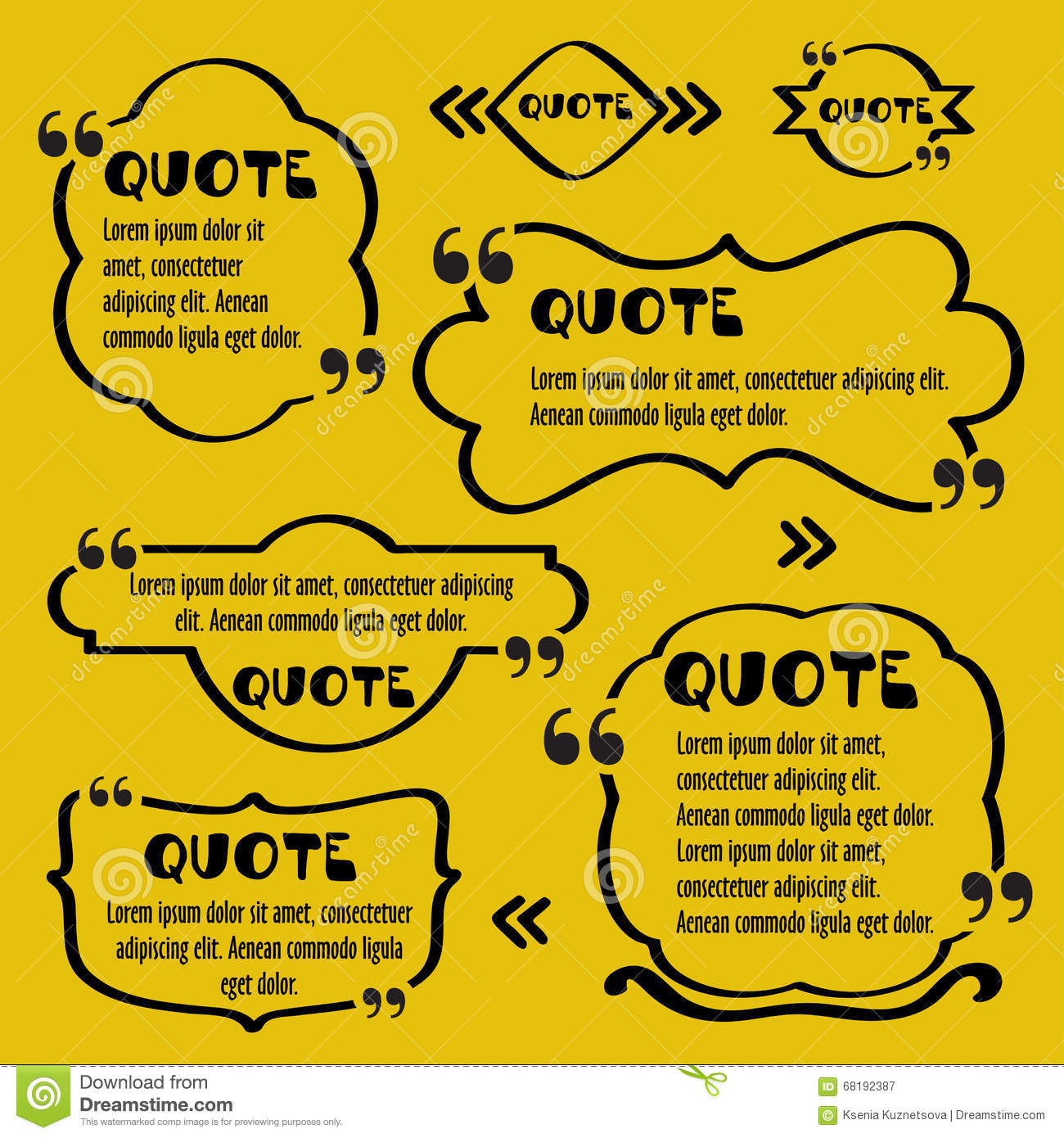 Quote Framesntage Template With Print Information Design Quotes