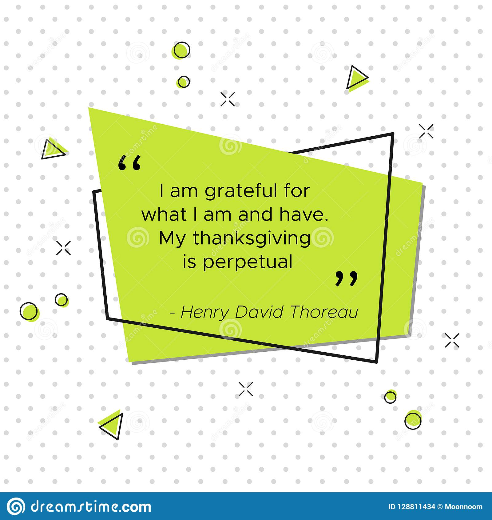 Quote Of Henry David Thoreau American Poet Stock Vector
