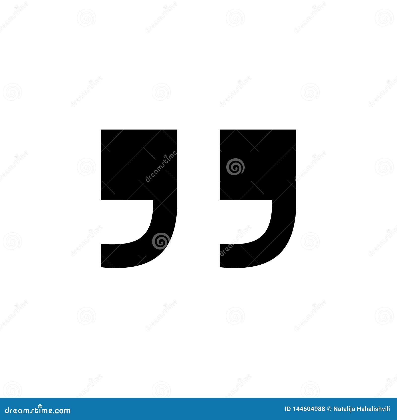 Quote icon. Quote sign icon. Quotation symbol.