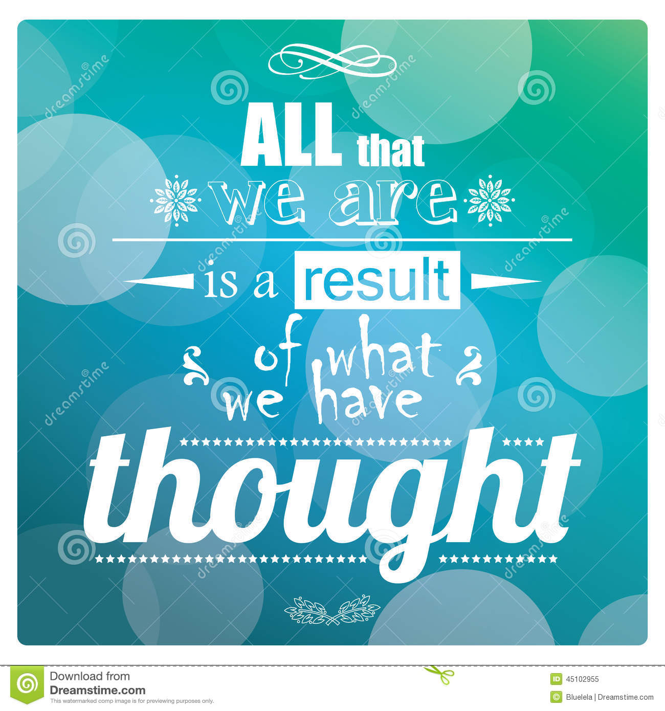 Quote, inspirational poster, typographical design, vector illustration