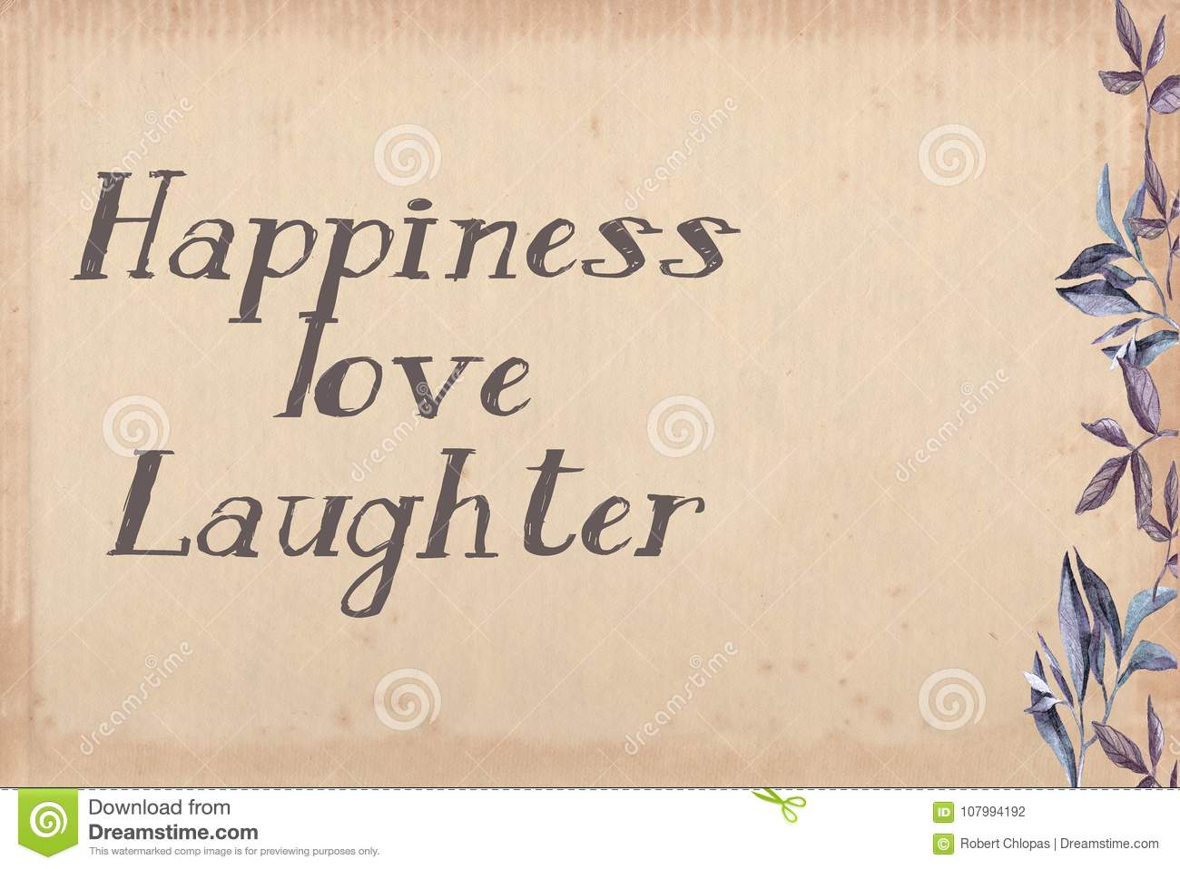 Happiness Love Laughter Frame Stock Illustration Illustration Of