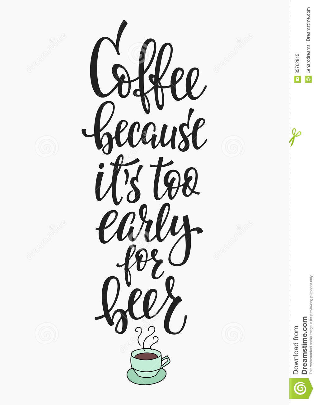 Vector Quote Stock Coffee Illustration Typography Of Love wN0PnOX8k