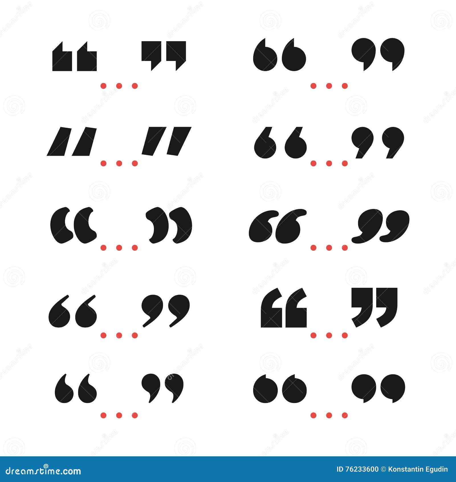 Quote marks black symbol