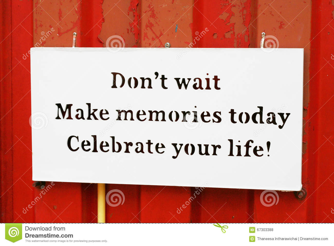 Quote Of Memories Stock Photo Image Of Note Inspiration 67303388