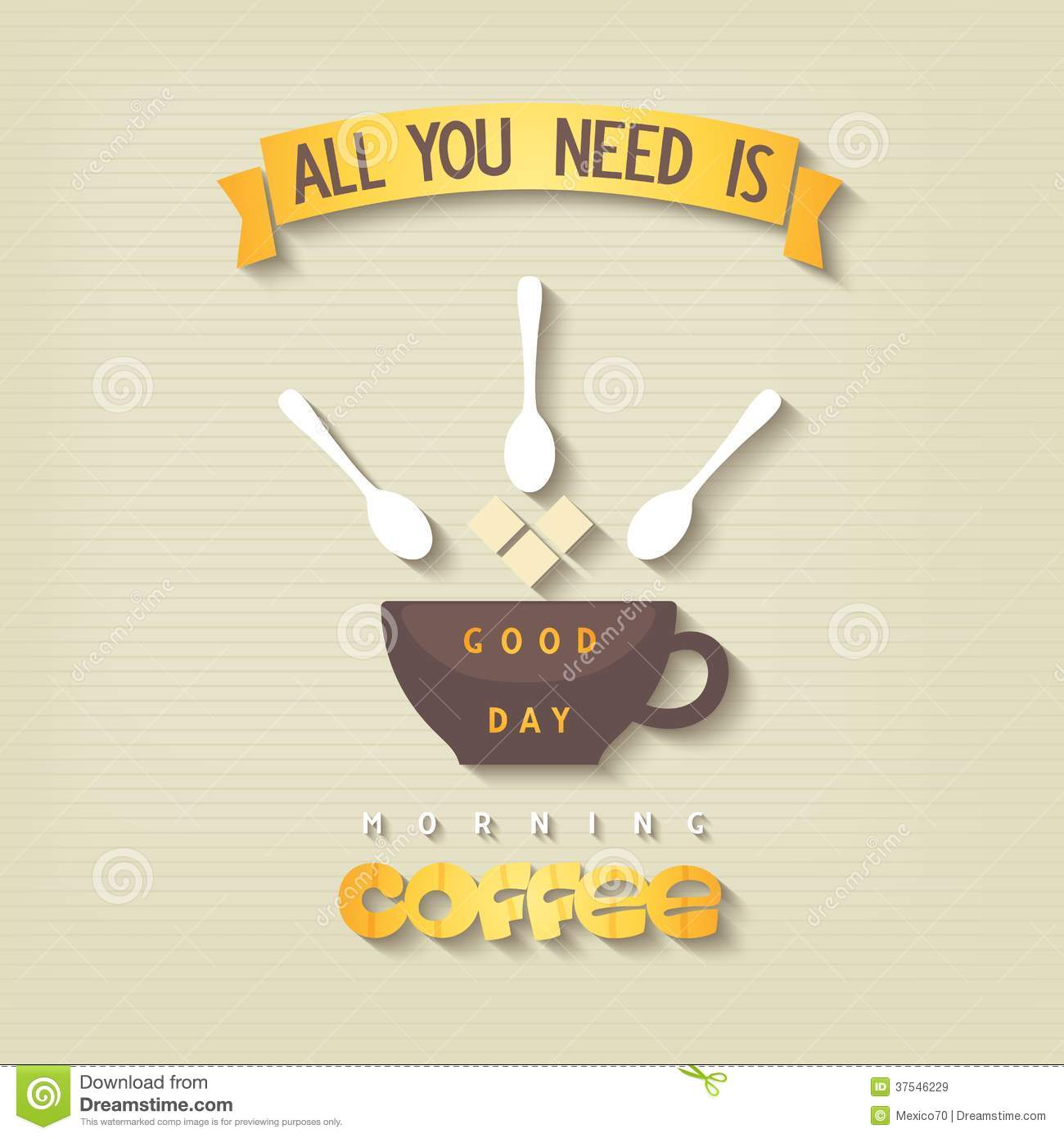 quote poster all you need is coffee stock vector illustration