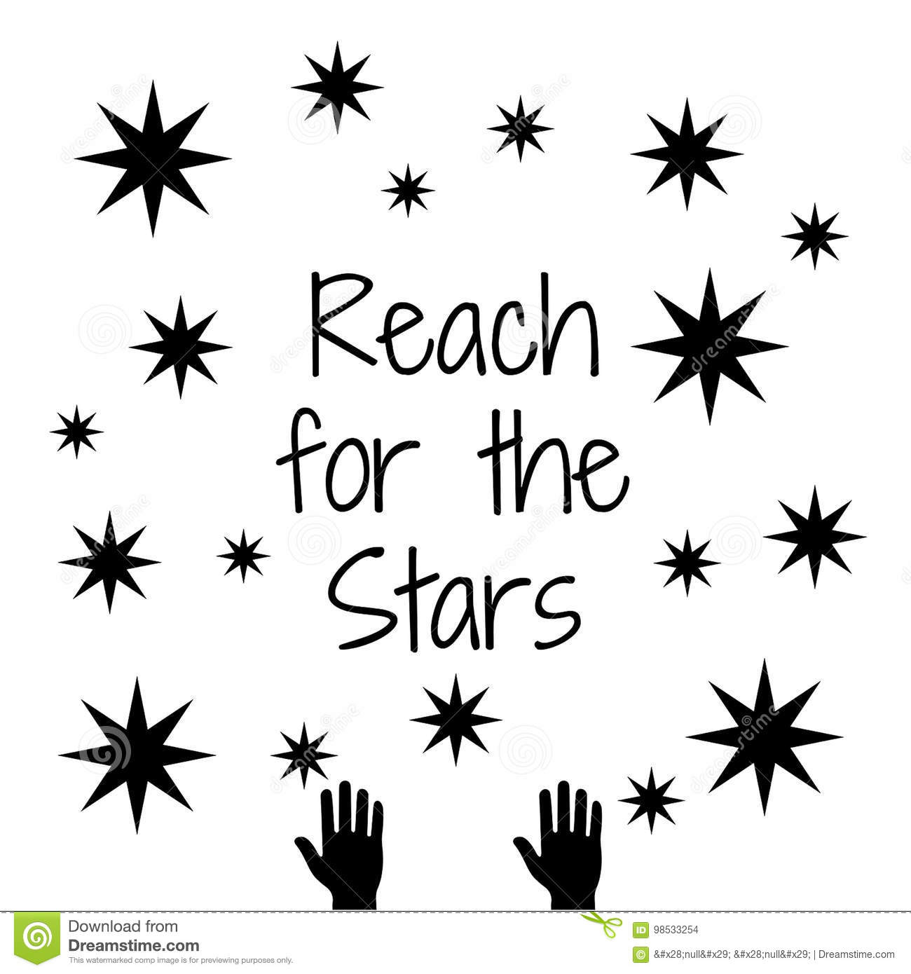 Quote Reach For The Stars Stock Illustration Illustration Of