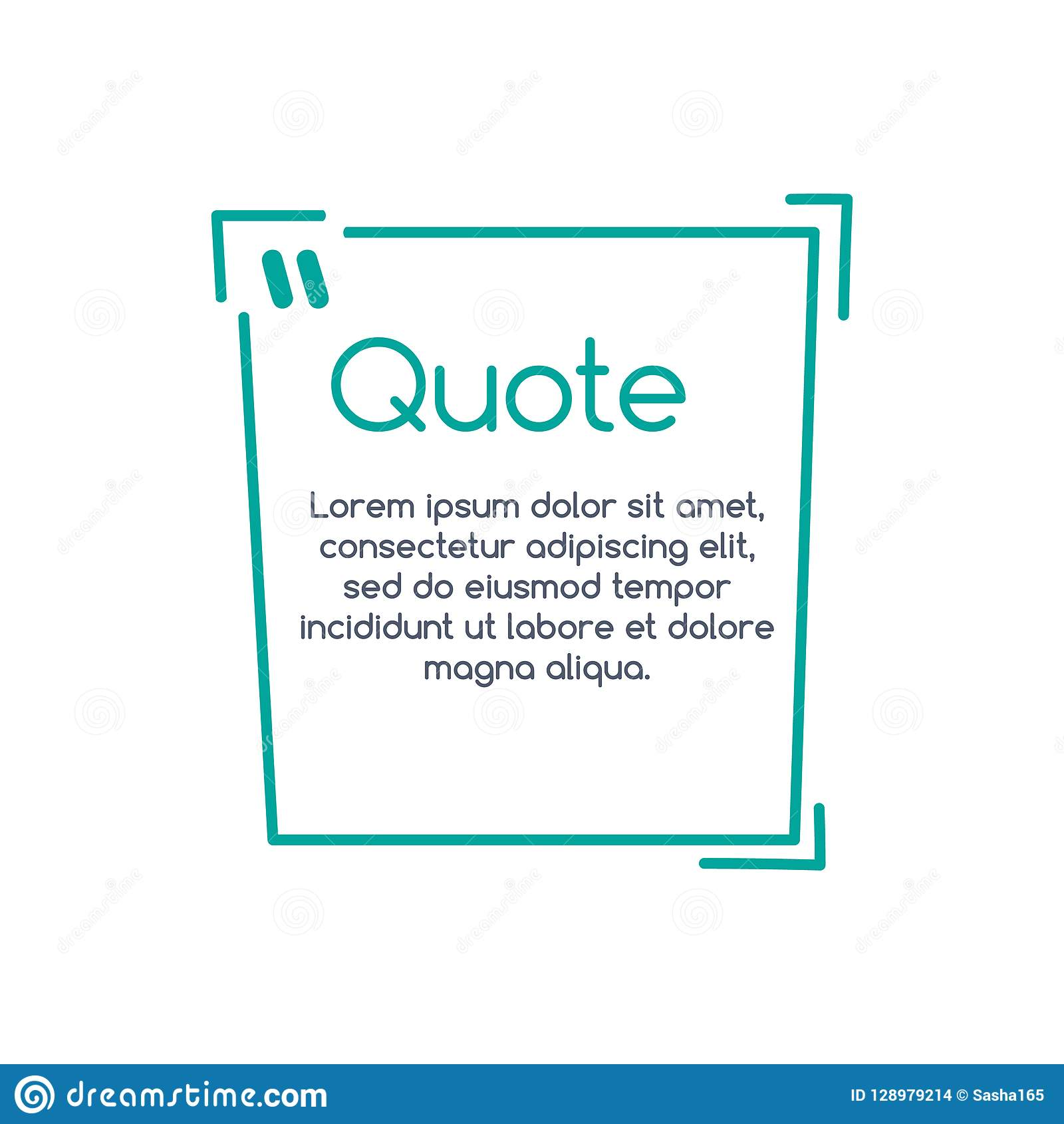 Quote Speech Bubble, Template, Text In Brackets, Citation